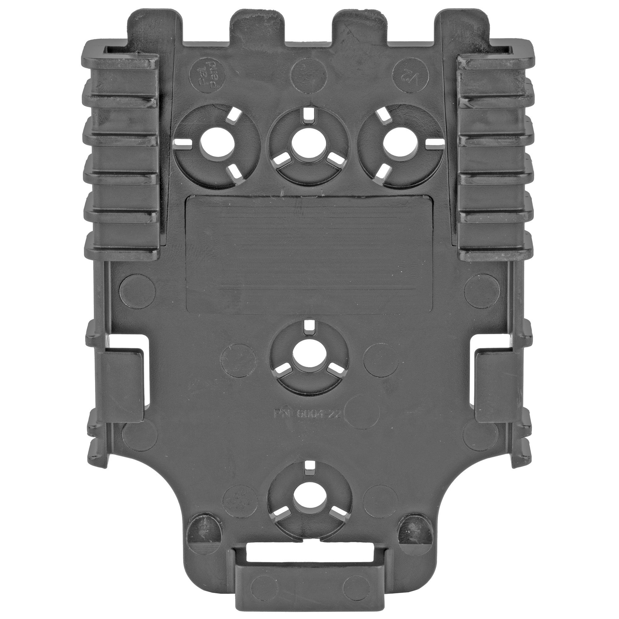 "This QLS 22L Quick attachment holster system receiver plate with lock is for the mounting platform for the QLS locking fork. You can mount your holster nearly anywhere: belt"" thigh rig"" in the home or even in a vehicle. It works with nearly all Safariland holsters and duty gear."