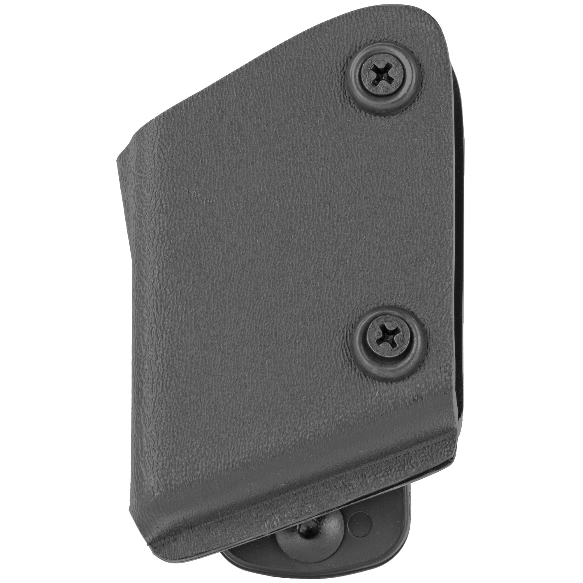 "The Model 773 Open Top Magazine Pouch is an innovative competition pouch design. It utilizes the same adjustable belt loop and rollers as the 771 but has a closed-in front area of the pouch so that it helps retain the magazine. The 773 is adjustable to any angle within a 90 degree range and the belt loop size is 1.5""."