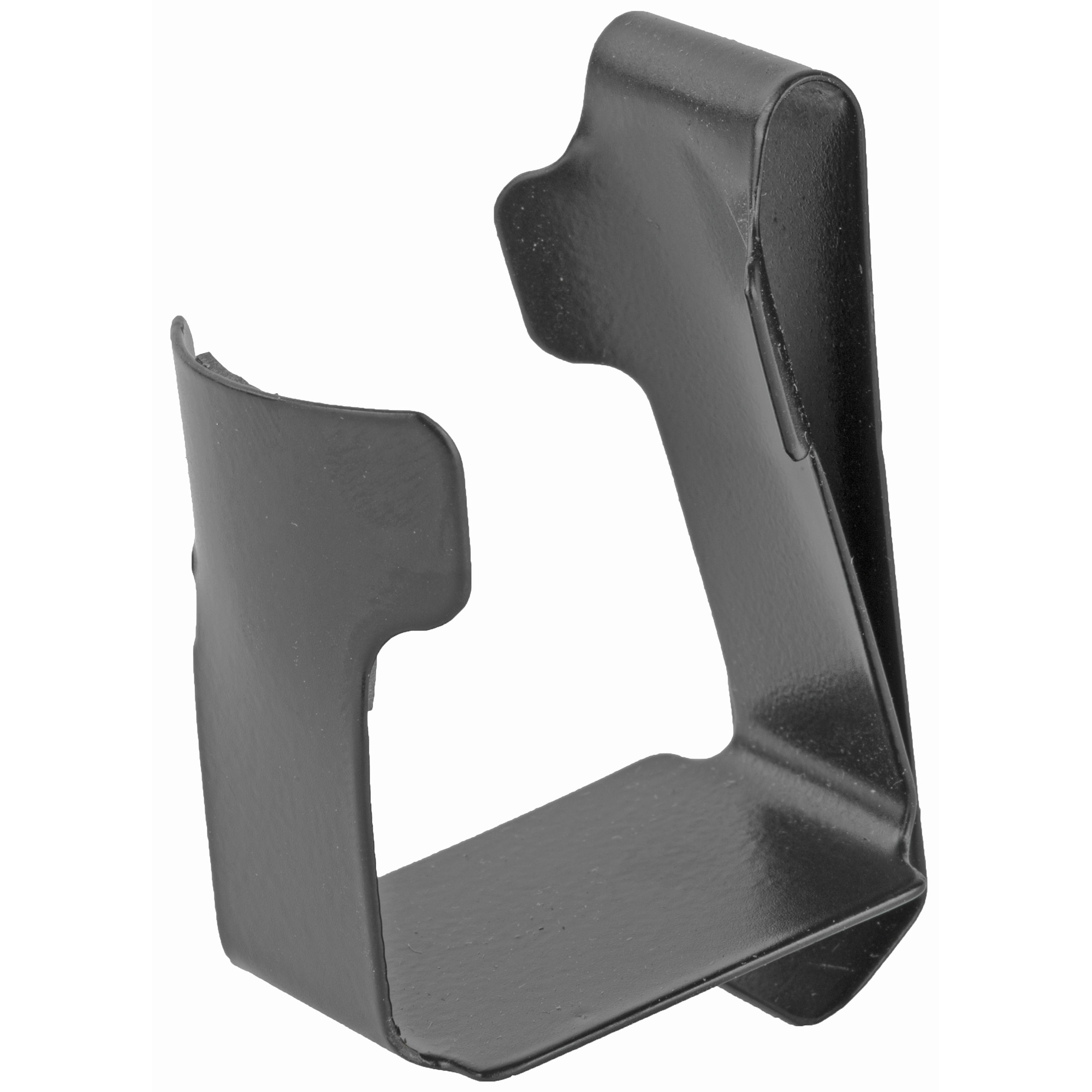 "The CD-2 metal clip-on Speedloader Holder is an epoxy coated strong steel clip lined with a vinyl pad insert to ensure loader stability. Clips firmly onto any belt up to 2"" (50mm) in width and designed for small frame 5-shot or medium frame 6-shot revolvers."