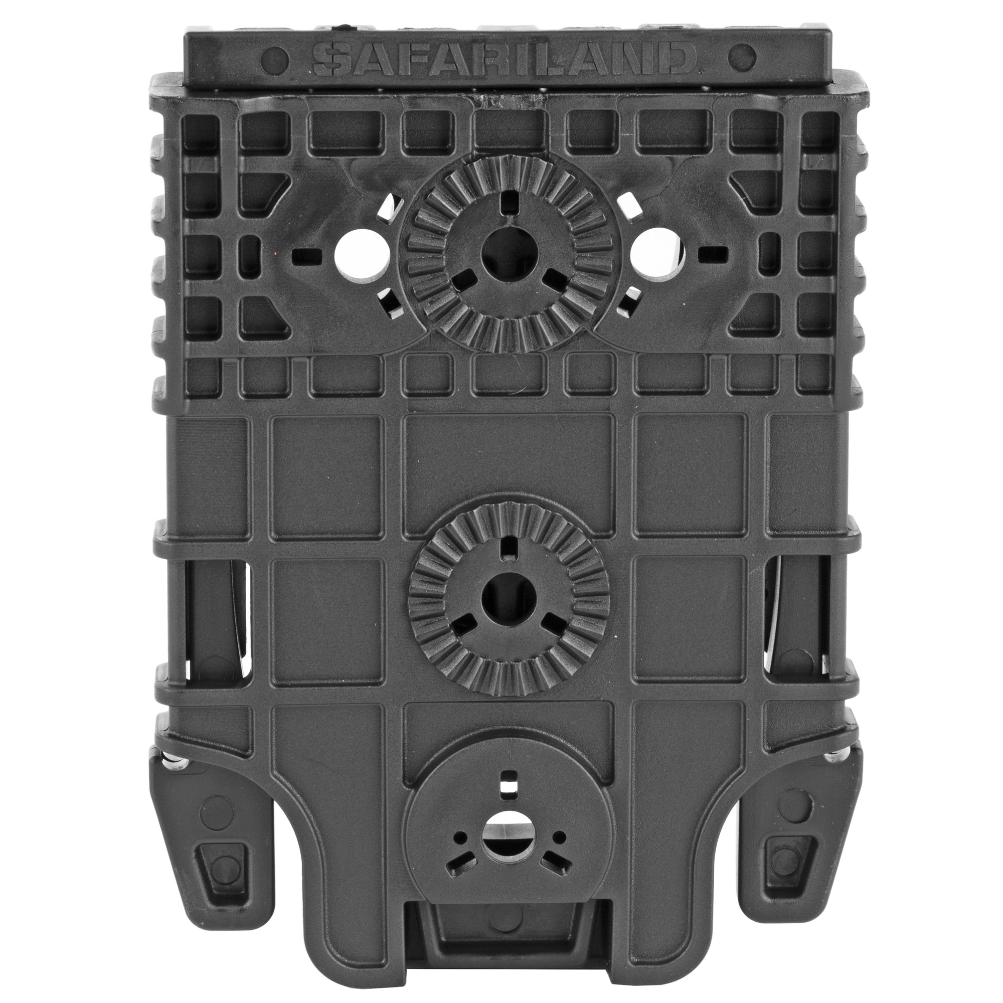 """The QUICK-KIT includes the QLS 19 Locking Fork and QLS 22 or QLS 22L (Extra Locking Feature) Receiver Plate components. Constructed of injection molded nylon"""" the receiver plate can be attached at different angles according to user preference. The QLS (Quick Locking System) allows for quick transfer of gear between attachment points such as a belt loop"""" tactical leg shroud or other stable platform. The QLS fork and plate combination passes the Level I Retention(TM) pull test. Allows users to rearrange gear quickly and easily without the use of tools. Hardware and Allen wrench included."""