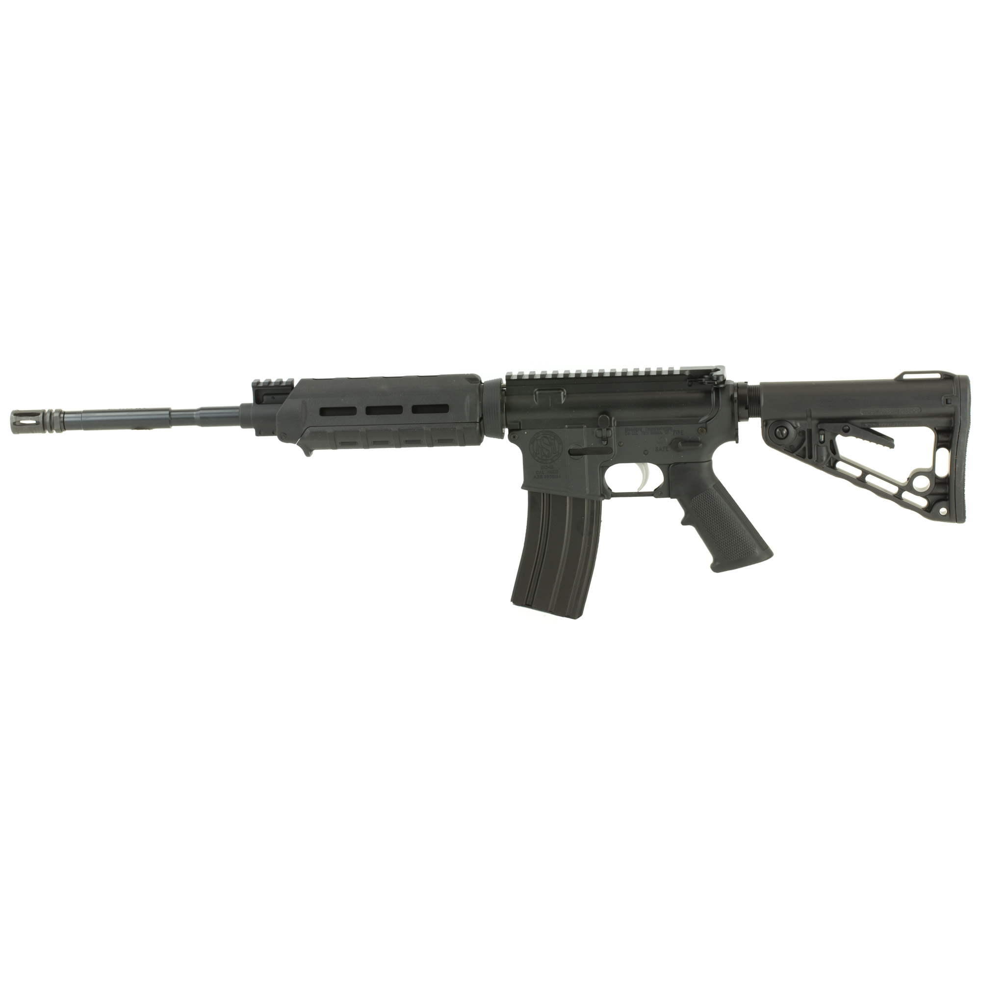 The Standard Model A is an optics ready carbine that is equipped with a Picatinny rail-height gas block for the option to install iron sights. This model has 4150 CMV (Chrome Moly Vanadium) barrel chambered in 5.56 NATO. The Model A also features a Standard Manufacturing-branded Roger's Super-Stoc buttstock and a Magpul hand guard that will accept a variety of M-LOK accessories.