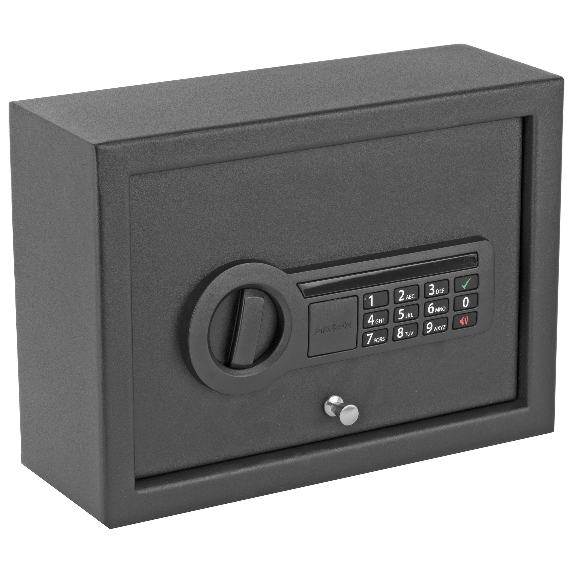 This drawer safe fits perfectly in a desk or nightstand drawer to provide security for personal documents and valuables at home or in the office.