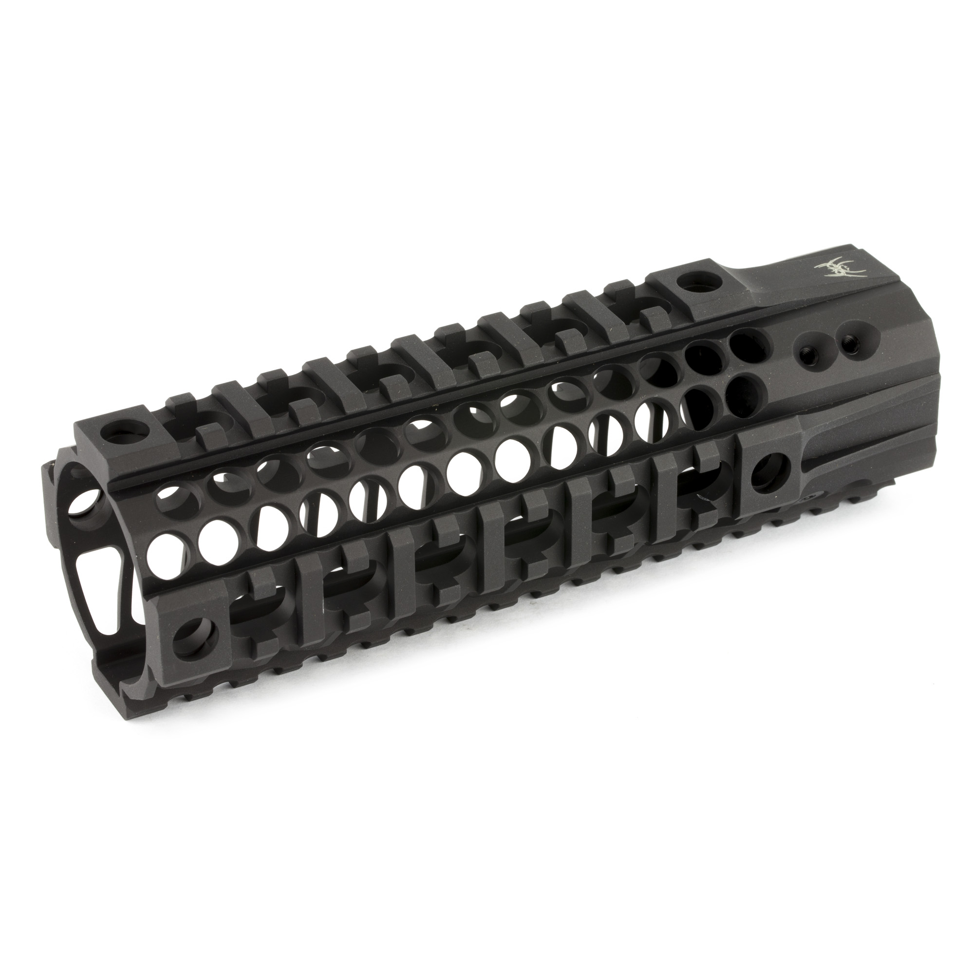 "The Spike's Tactical LW BAR2 is a 1pc free floating quad-rail that is machined from 6061-T6 aluminum with a barrel nut machined from 7075-T6 aluminum and finished in type III hardcoat anodizing on the rail and barrel nut. The main benefit of the BAR rail is to those who wish to have a suppressor inside of the rail. The BAR rail also offers excellent heat ventilation"" built in anti-rotation tabs to keep the rail and even the barrel nut from coming loose."