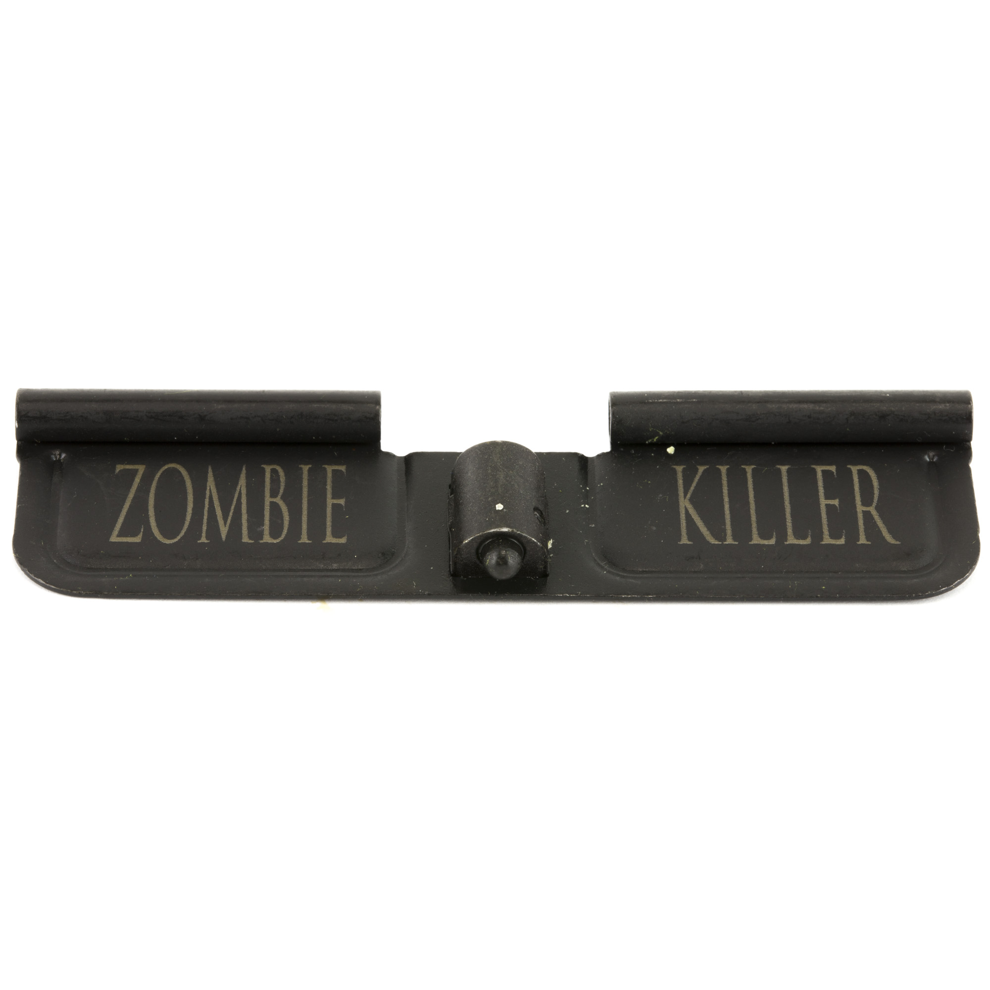 Spike's Tactical offers ejection port covers with a variety of custom engravings.