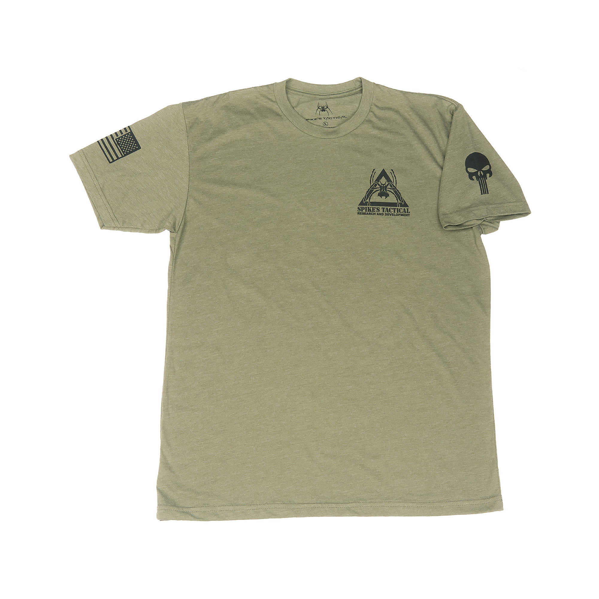 Spike's Tactical fully embraces the belief that America is awesome and worth fighting for. Show your support for Spike's Tactical with this comfortable cotton/polyester blend T-Shirt.