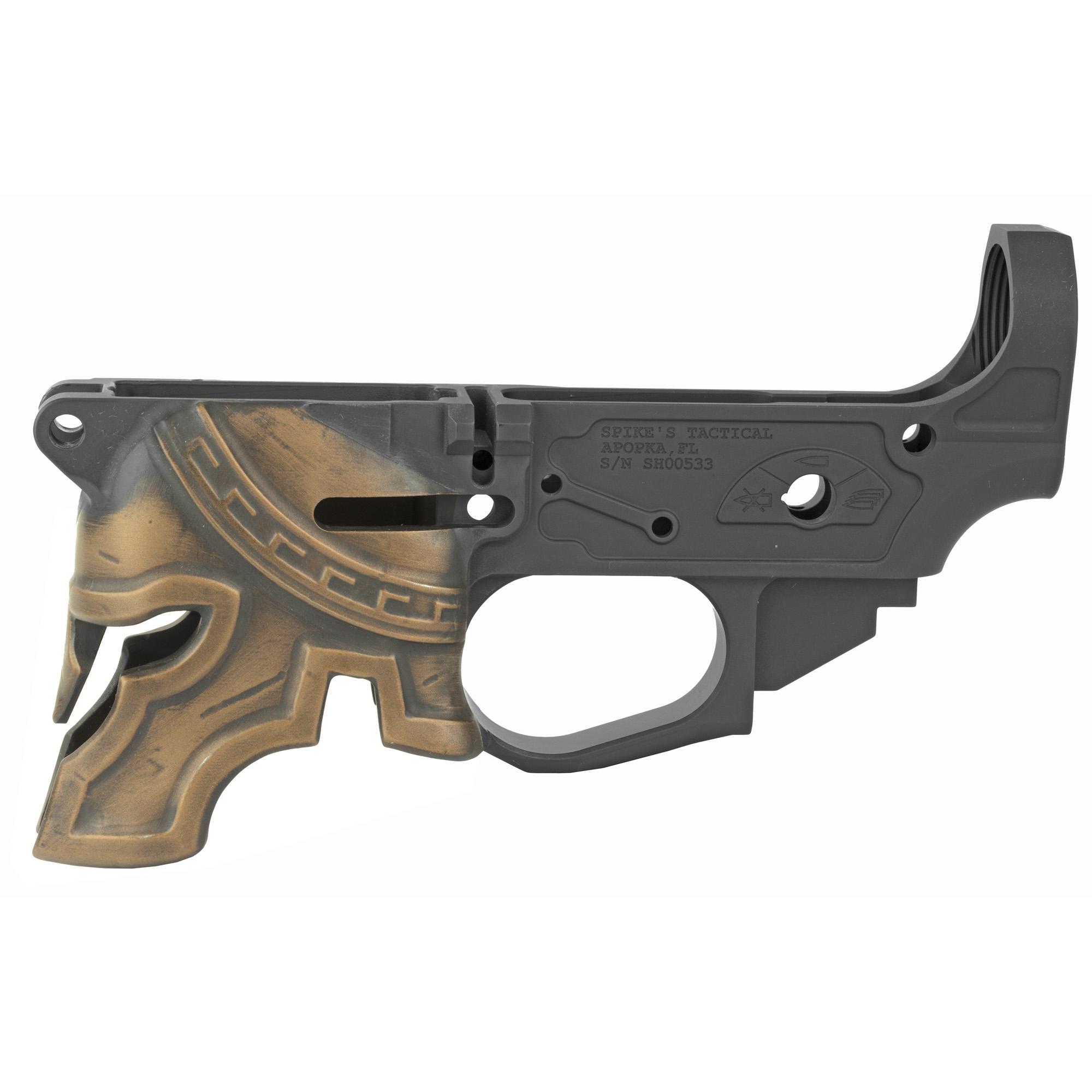 Spike's Tactical Spartan Color Filled Lower 223 Remington 5 56 NATO - Black