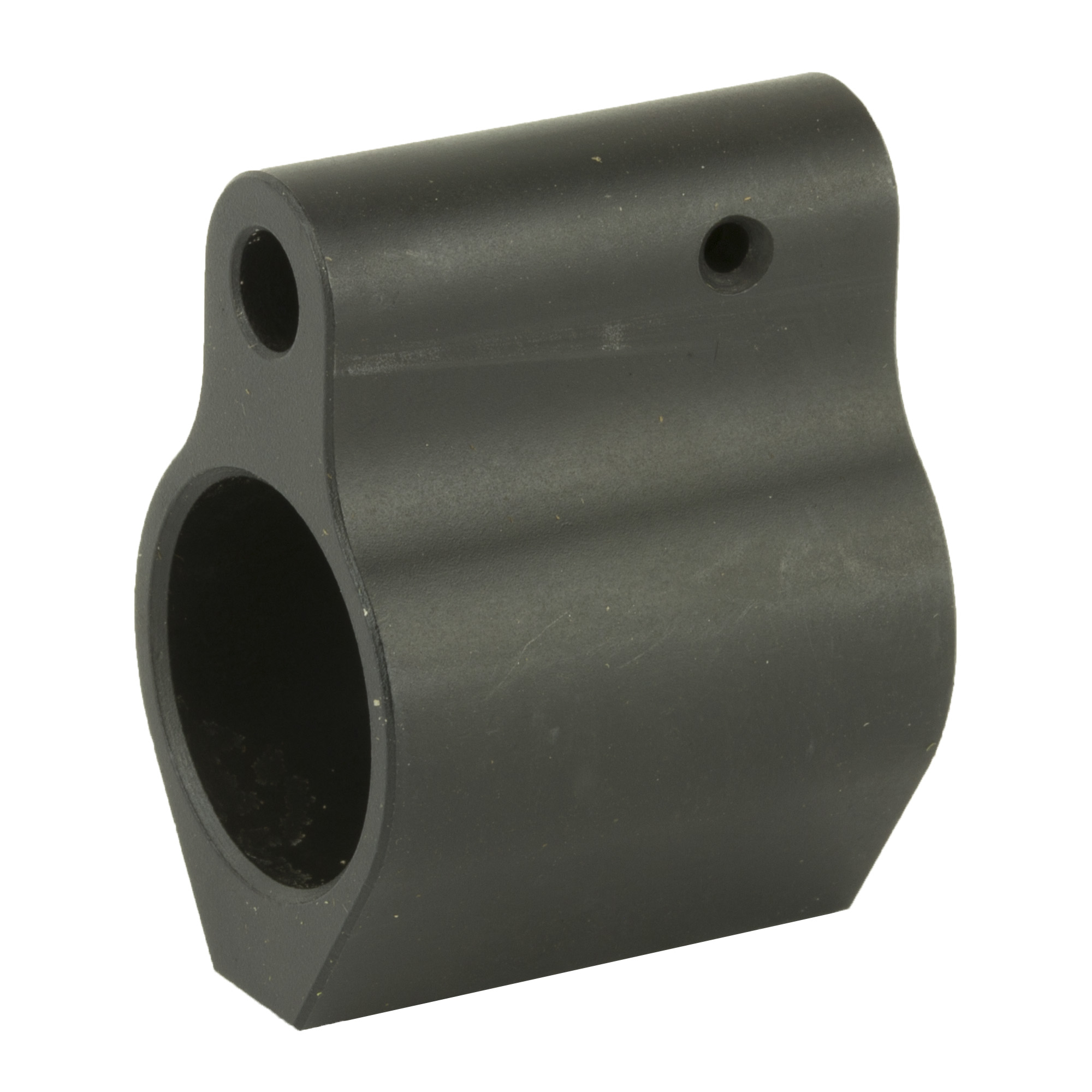 High quality low-profile AR-15 double set screw gas block. Made of Billet Steel and Black Nitride Coated.