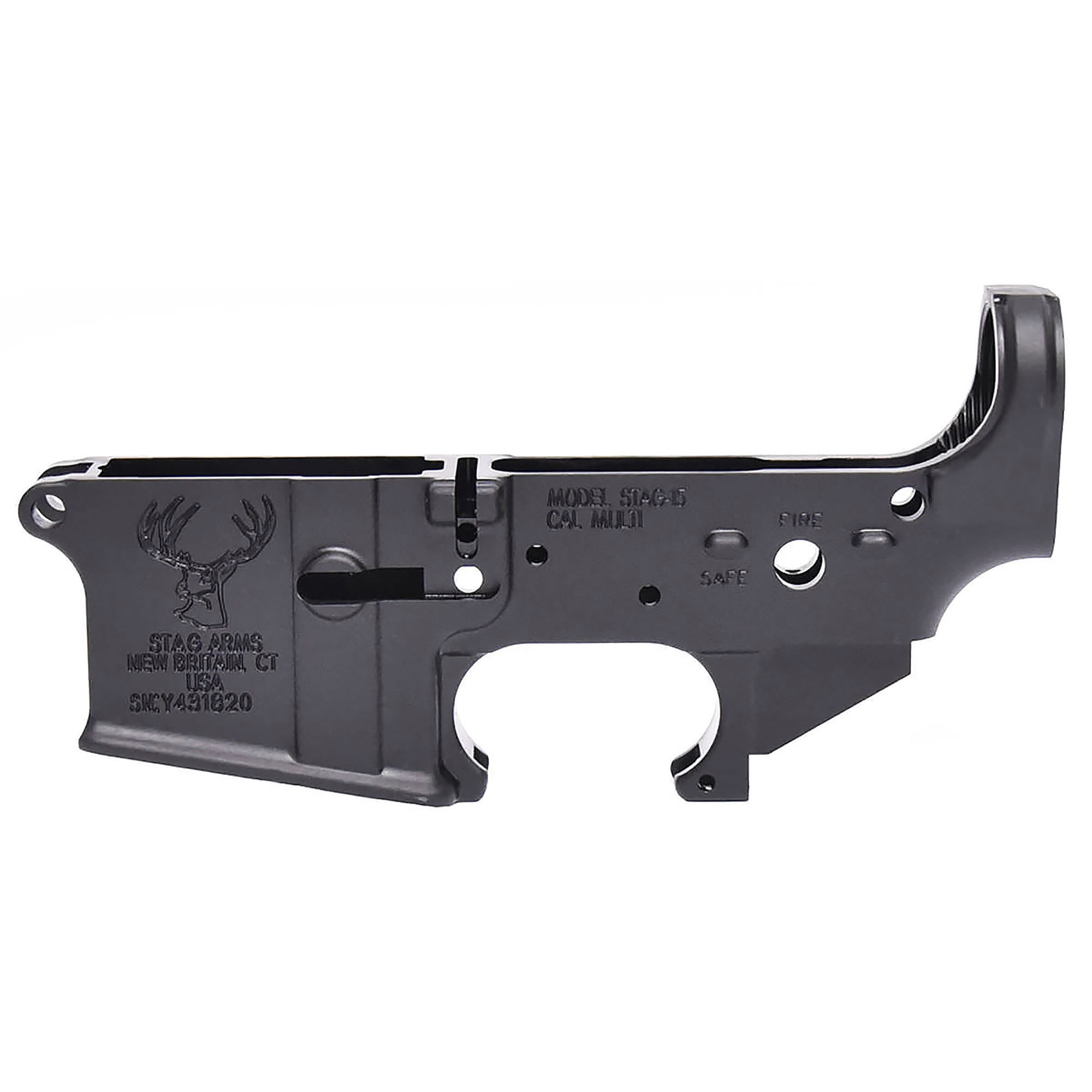 "Made to Mil-Spec standards"" the Stag stripped lower receiver is second to none in quality and works with Mil-Spec AR15 parts & components."