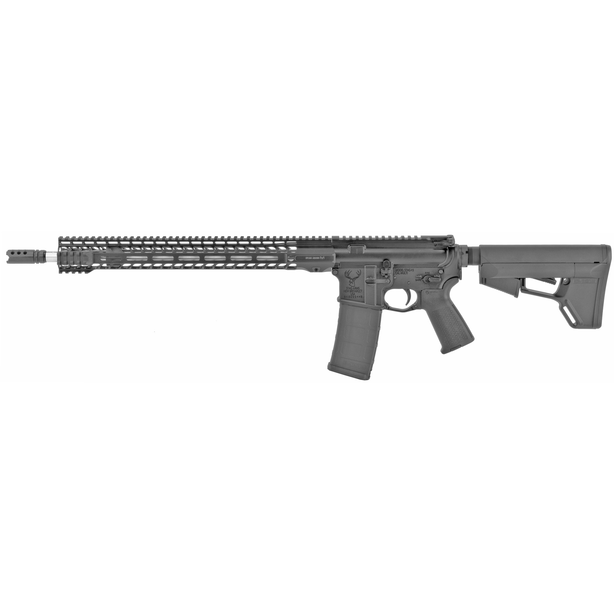 "The Stag 15 3Gun Elite was designed specifically for 3-Gun competitions where fast and accurate shooting is required. It features the all-new Stag 15 M-LOK SL 16.5"" Handguard which provides a slimline"" lightweight profile with unmatched ergonomics"" airflow"" and modularity."