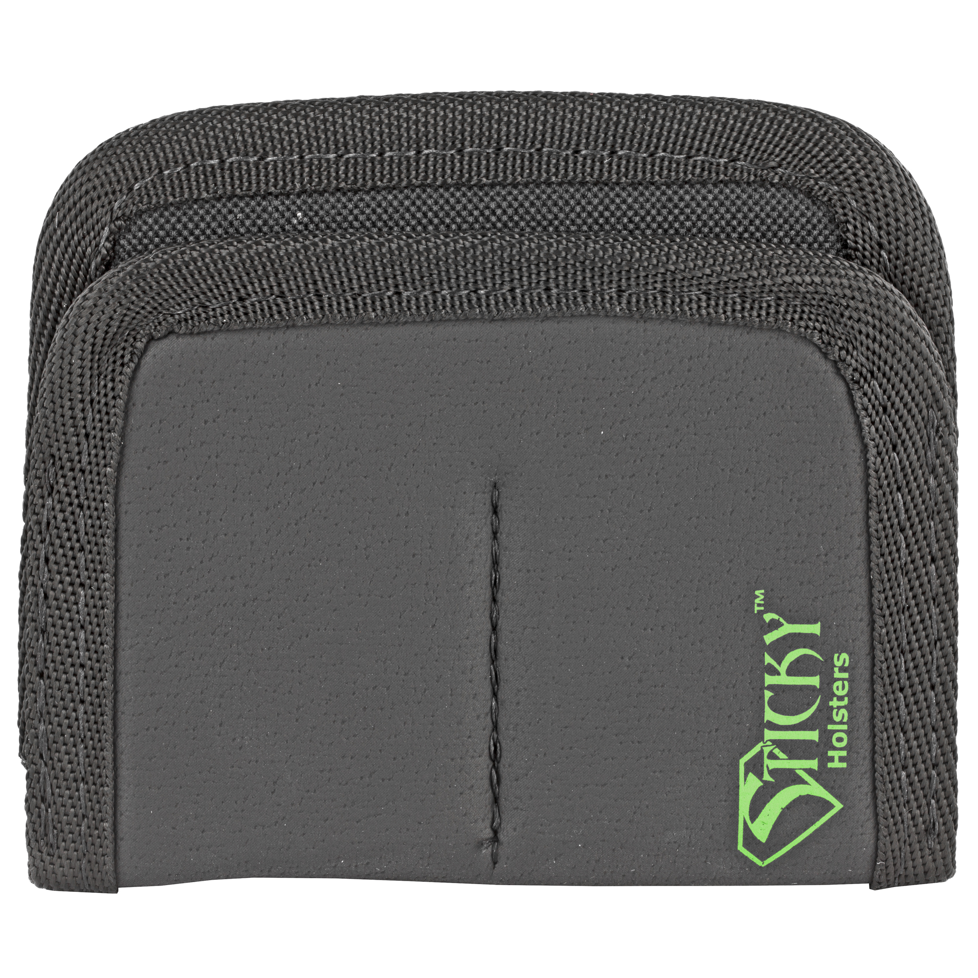 The Dual Mini Mag Sleeve is a IWB or Pocket magazine or accessory holder. This is designed for small single stack magazines. The Dual has two mag sleeves sewn together. Fits magazines similar in size or small than a Glock 43.