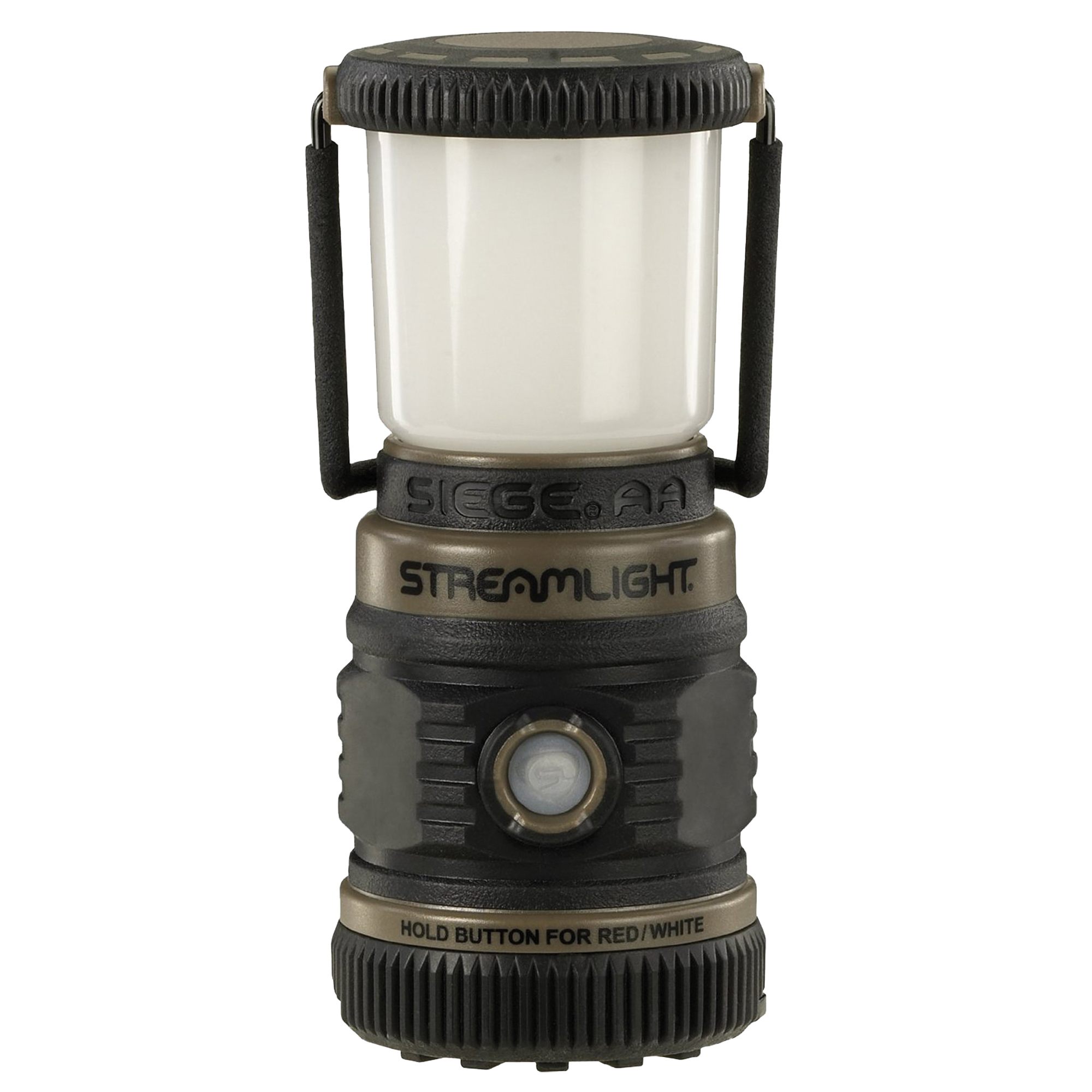 "Rugged"" cordless"" alkaline battery-powered lantern provides 360 degree of soft"" even light that illuminates a large area. Red and white light modes with a flash SOS mode."