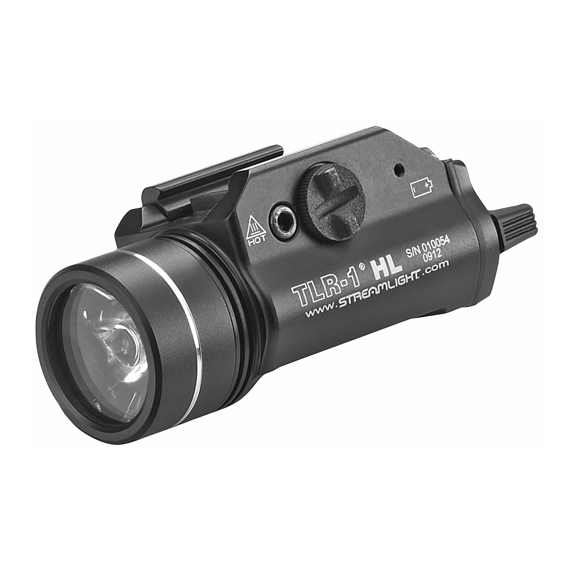 The TLR-1 HL now provides an 800 lumen blast of light for maximum illumination while clearing a room or searching an alley. Its wide beam pattern lights up large areas so you can identify who or what is nearby.