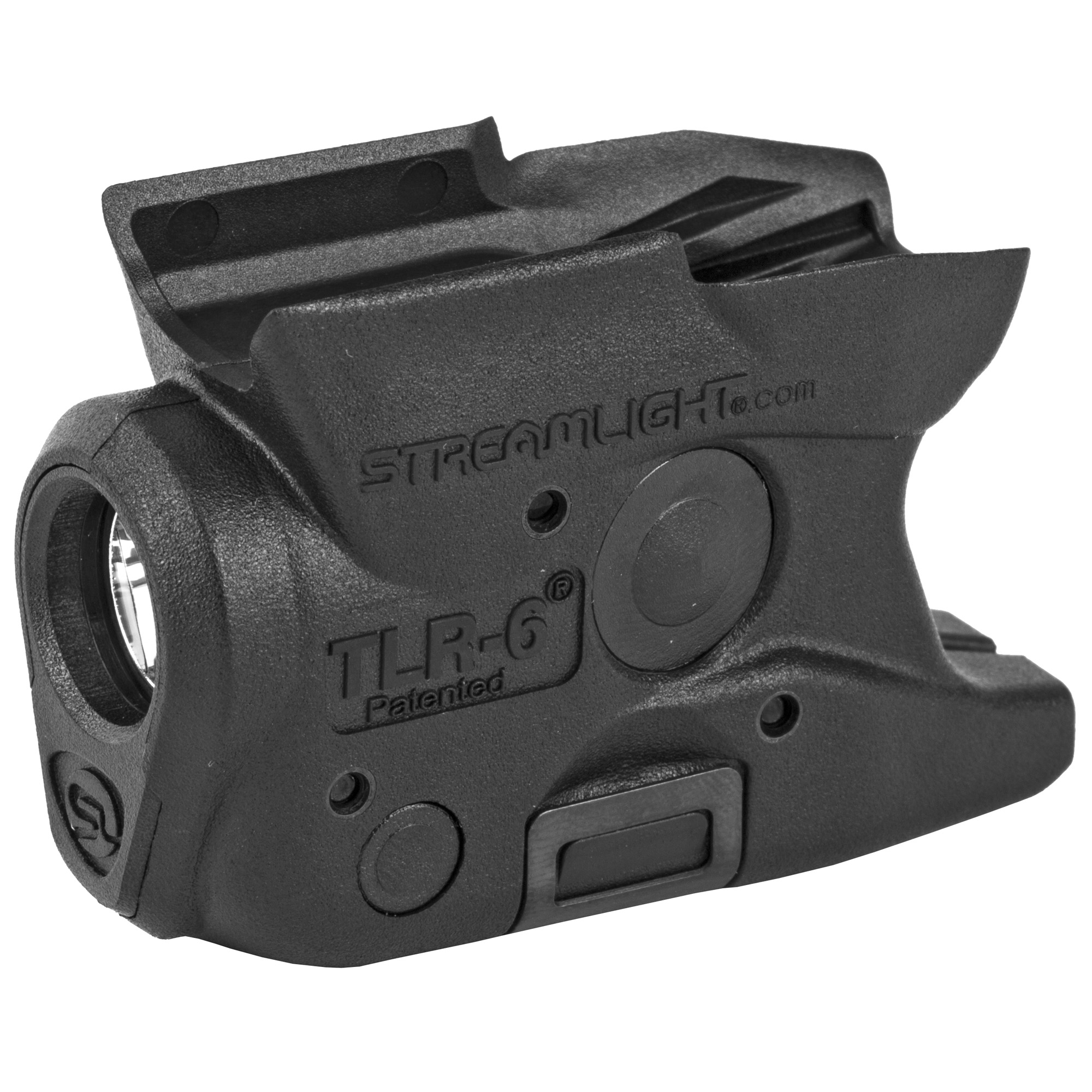 "Based on the popular ultra-compact TLR-6"" this non-laser model is designed to securely attach to the trigger guard on hand guns and features tool-less battery replacement without removal from the weapon."