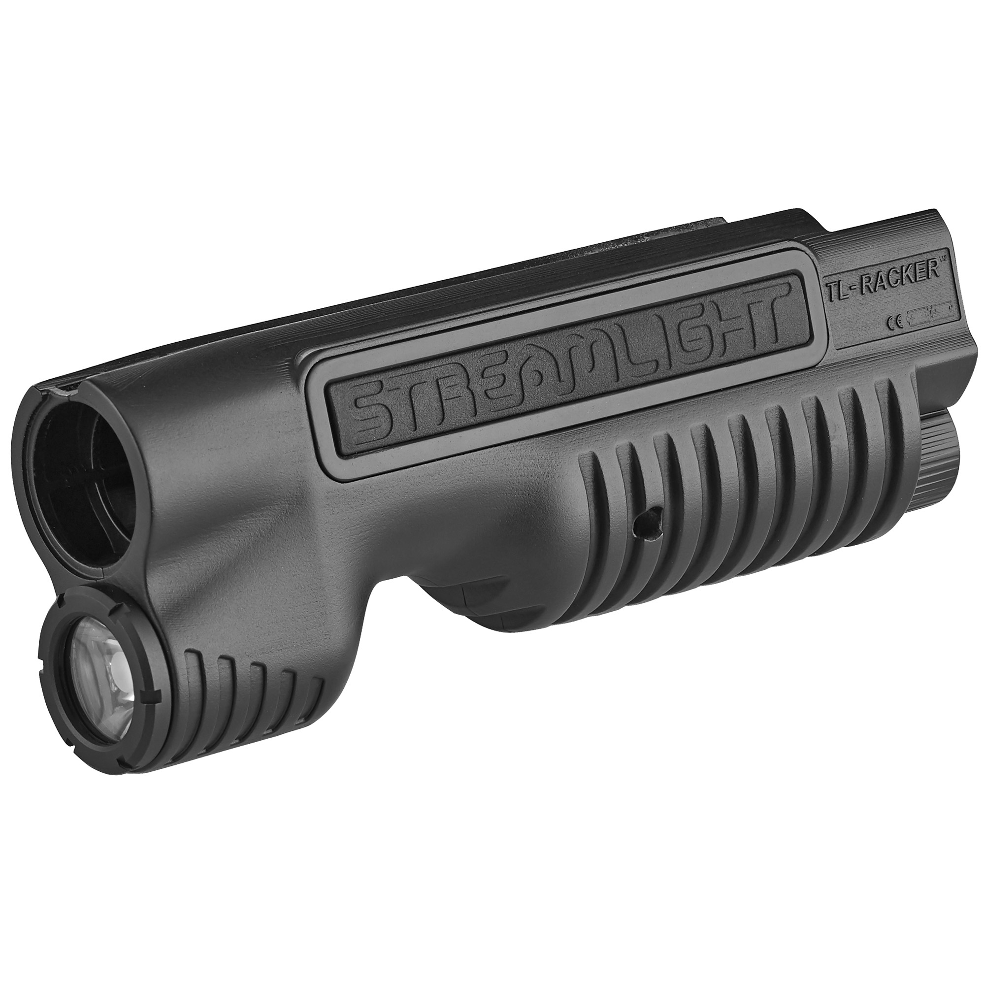 "With the TL-Racker"" Streamlight presents an all-in-one integrated shotgun forend light. It features a sleek design that reduces snag hazards by eliminating the need for remote cords. Ideal for shotgun breaching"" close quarter operations or elevating your home defense options"