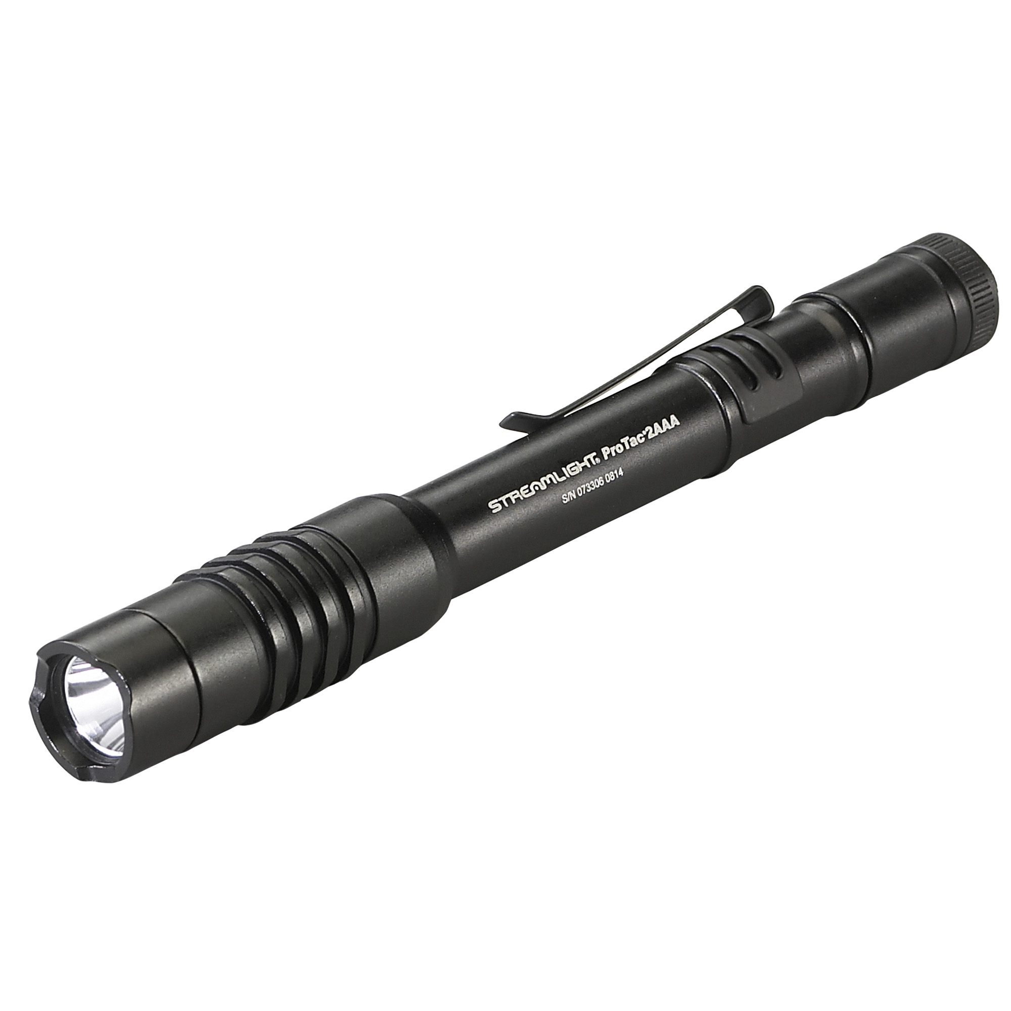 "About the size of a marker"" with two AAA batteries"" this ProTac fits nicely into your pocket and is big on function and performance. Now producing 130 lumens."