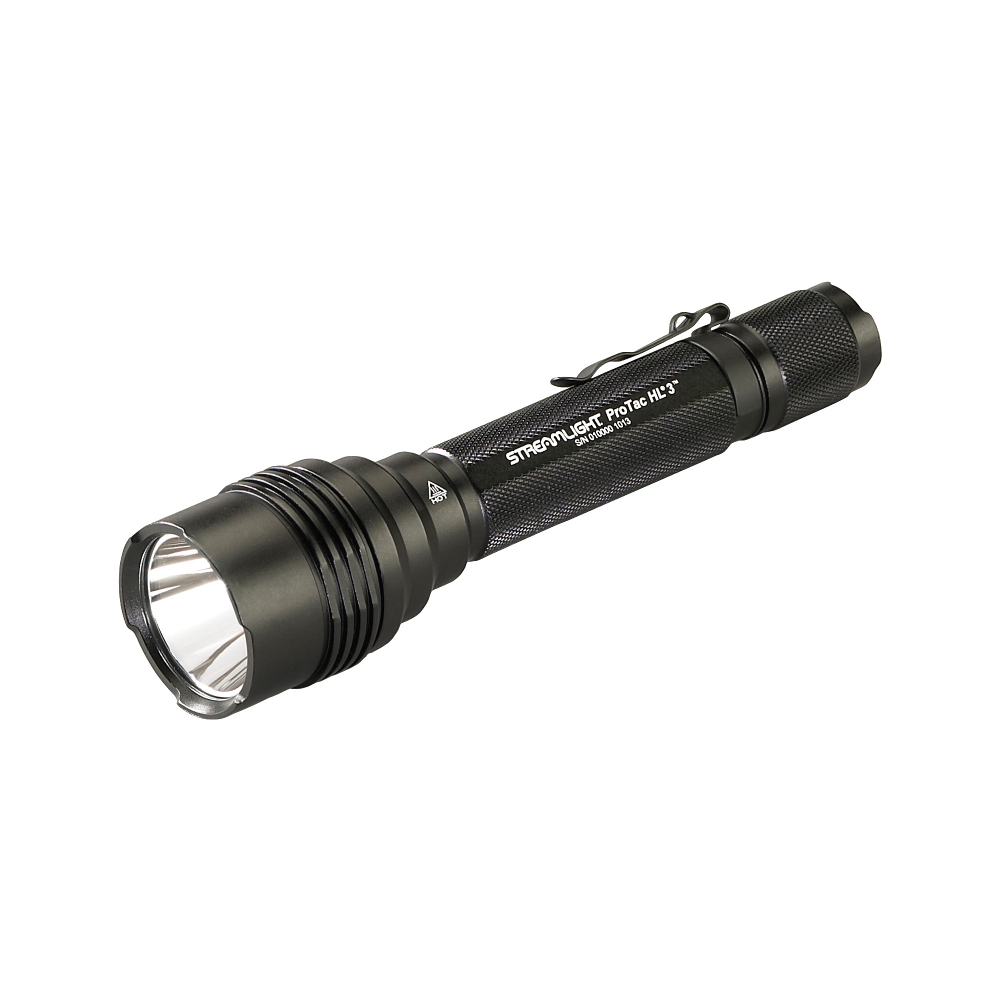 "With 1""100 lumens of blinding light"" the ProTac HL(R)3 is the newest and brightest addition to the ProTac(R) series. The ProTac HL(R)3 offers the latest in power LED technology and three different user selectable programs. The combination of size and output from the C4(R) LED result in one of the brightest tactical lights for its' size. Packaged with a removable pocket clip"" holster and sure grip rubber sleeve."