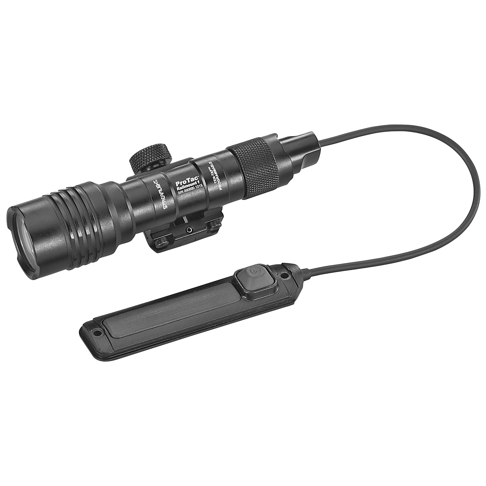 "The ProTac series expands into weapon-mounted lights with this 350 lumen light featuring a dedicated fixed-mount for Picatinny rails. It uses either a remote switch with momentary/constant on operation or a standard push-button tail switch"" and can run on either a lithium battery or an easy-to-find alkaline battery."