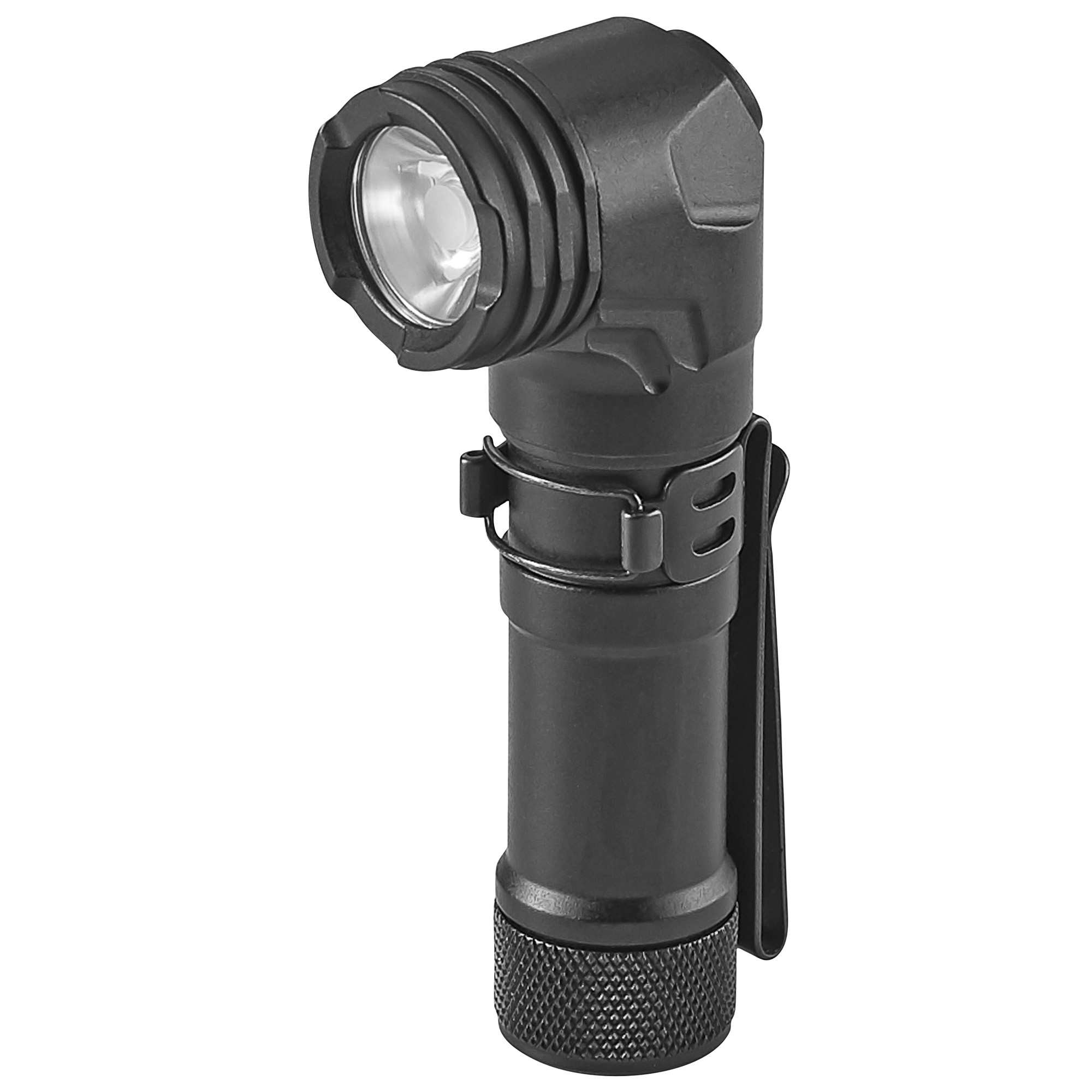 "The ProTac 90 is an EDC light with a twist. It features a right-angle head that gives extra lighting capability for those with multiple lighting needs. Carry in your hand or attach to your MOLLE"" belts"" harnesses and other gear for hands-free use."