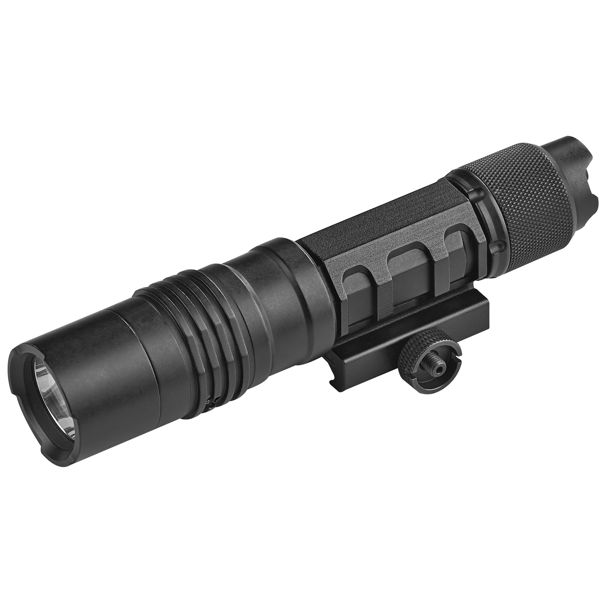 "The ProTac Rail Mount HL-X Laser is a 1""000 lumen long gun light with an integrated red laser. It features MULTI-FUEL innovation that allows it to accept Streamlight's 18650 USB battery or CR123A lithium batteries"" ensuring you'll always have a beam when you need it."