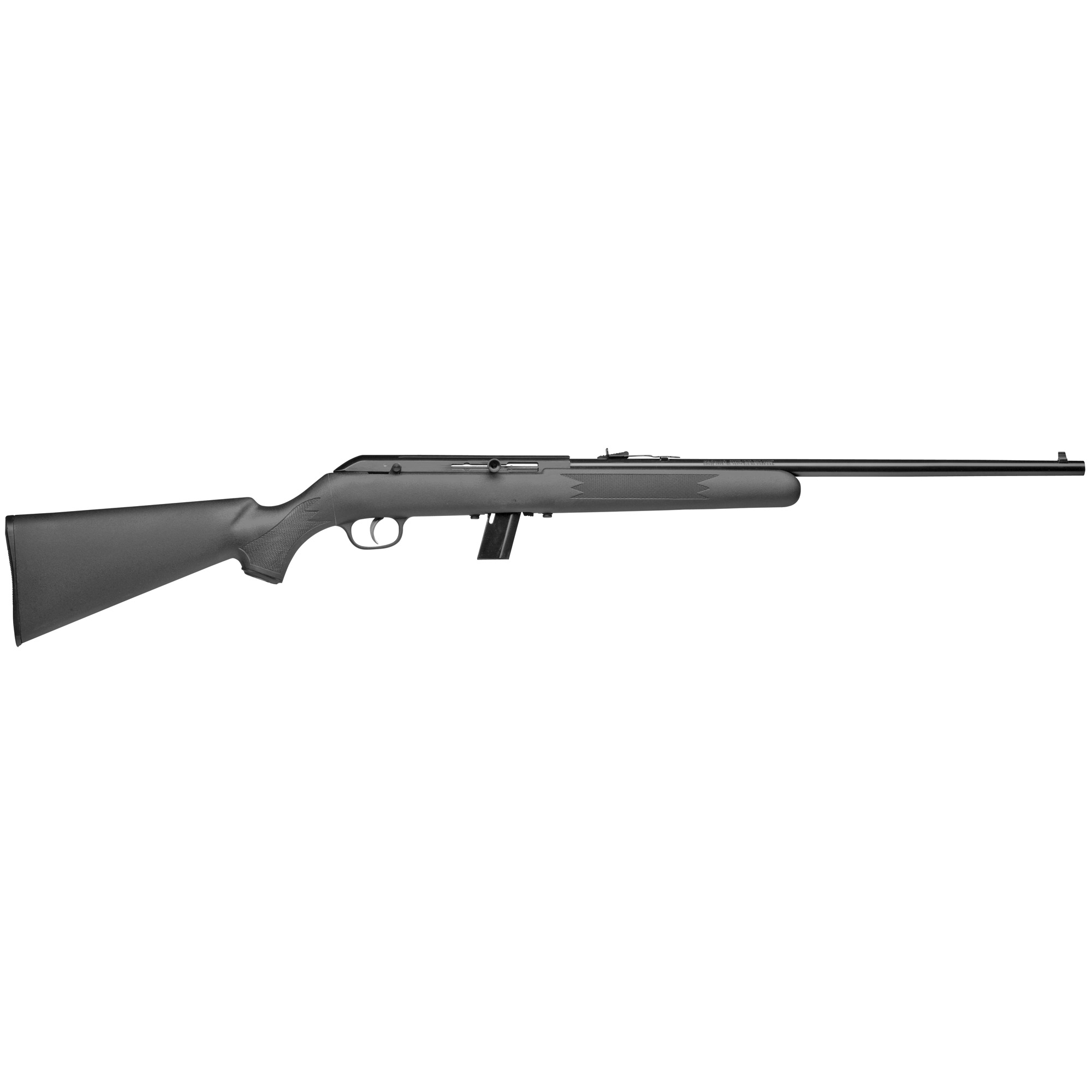 "The Model 64 combines Savage's legendary accuracy with a reliable"" straight-blowback semi-automatic action fed by a detachable 10-round box magazine."