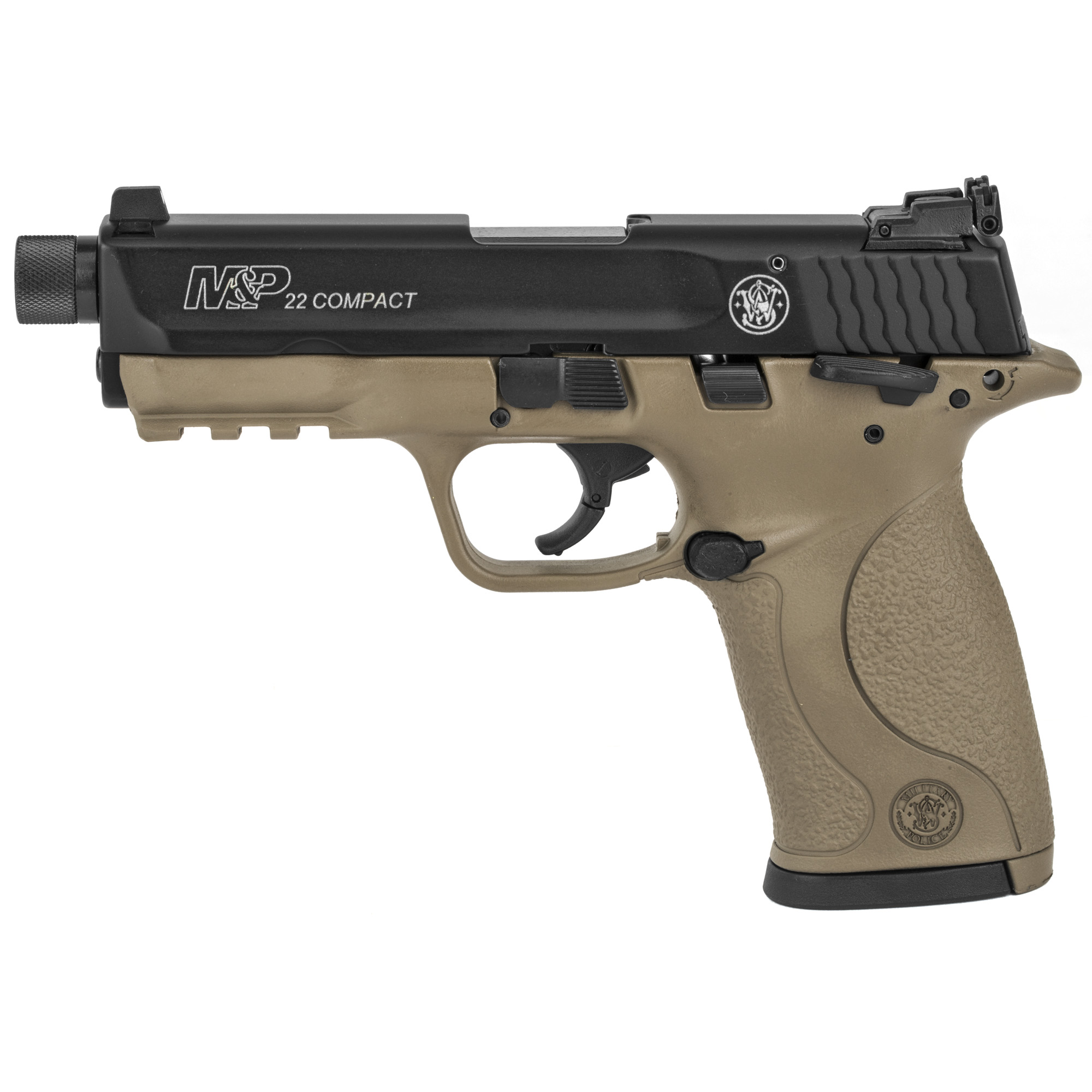 "Precision built to be the most accurate and reliable firearms"" M&P pistols are an experience you have to feel to believe. Durable and comfortable"" they are capable of handling as many rounds as you are. Engineered with an attention to detail and superior ergonomics"" M&P22 pistols connect the shooter with the shot. Ideally suited for training or target shooting"" this semi-automatic compact pistol maintains standard M&P pistol design features and includes a few extras. Two magazines are included."