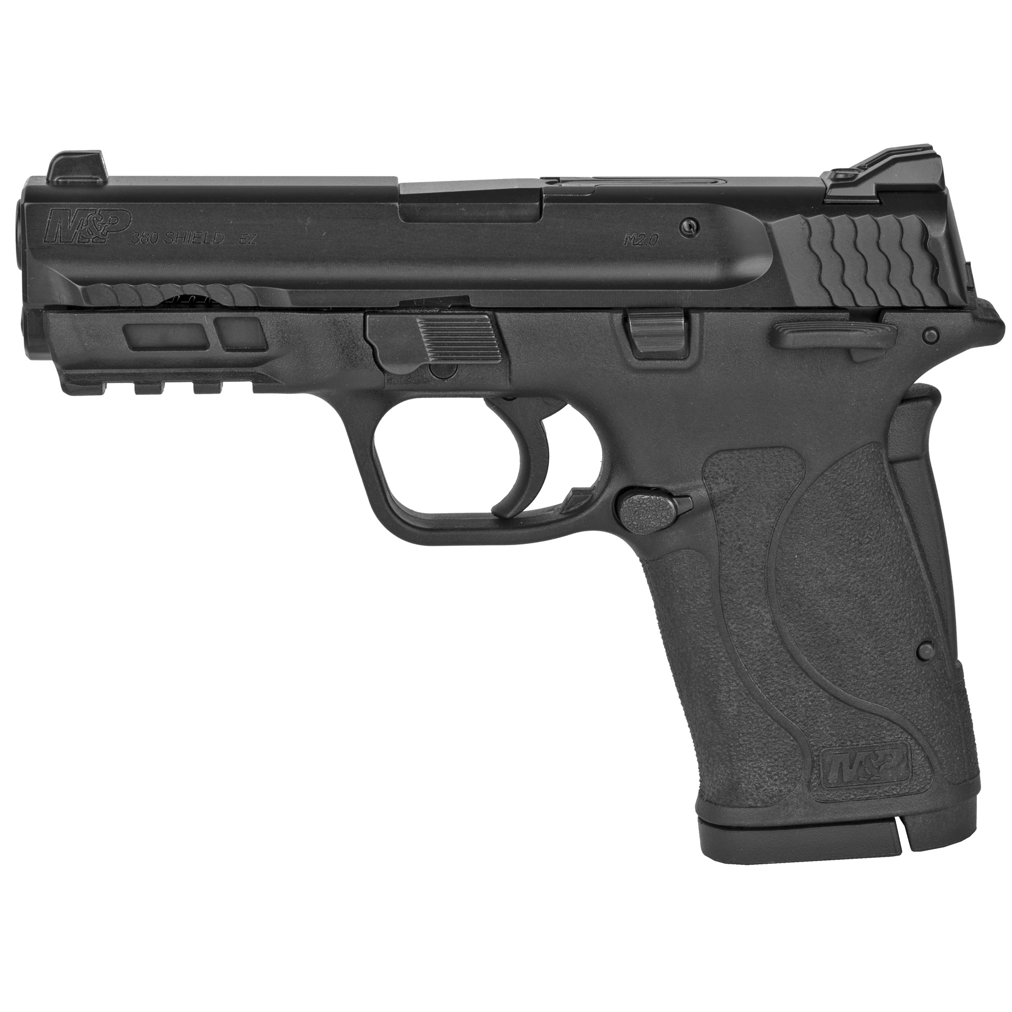 "Built for personal protection and every-day carry"" the M&P380 Shield EZ is chambered in 380 Auto and is designed to be easy to use"" featuring an easy-to-rack slide"" easy-to-load magazine"" and easy-to-clean design. Built for personal and home protection"" the innovative M&P380 Shield EZ pistol is the latest addition to the M&P M2.0 family and provides an easy-to-use protection option for both first-time shooters and experienced hand gunners alike. Includes two 8 round magazines."