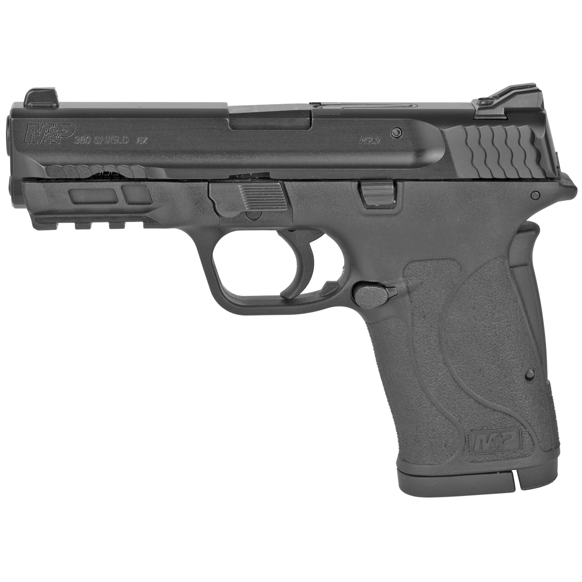 "Built for personal protection and every-day carry"" the M&P380 Shield EZ is chambered in 380 Auto and is designed to be easy to use"" featuring an easy-to-rack slide "" easy-to-load magazine"" and easy-to-clean design. Built for personal and home protection"" the innovative M&P380 Shield EZ pistol is the latest addition to the M&P M2.0 family and provides an easy-to-use protection option for both first-time shooters and experienced hand gunners alike. Includes two 8-round magazines."