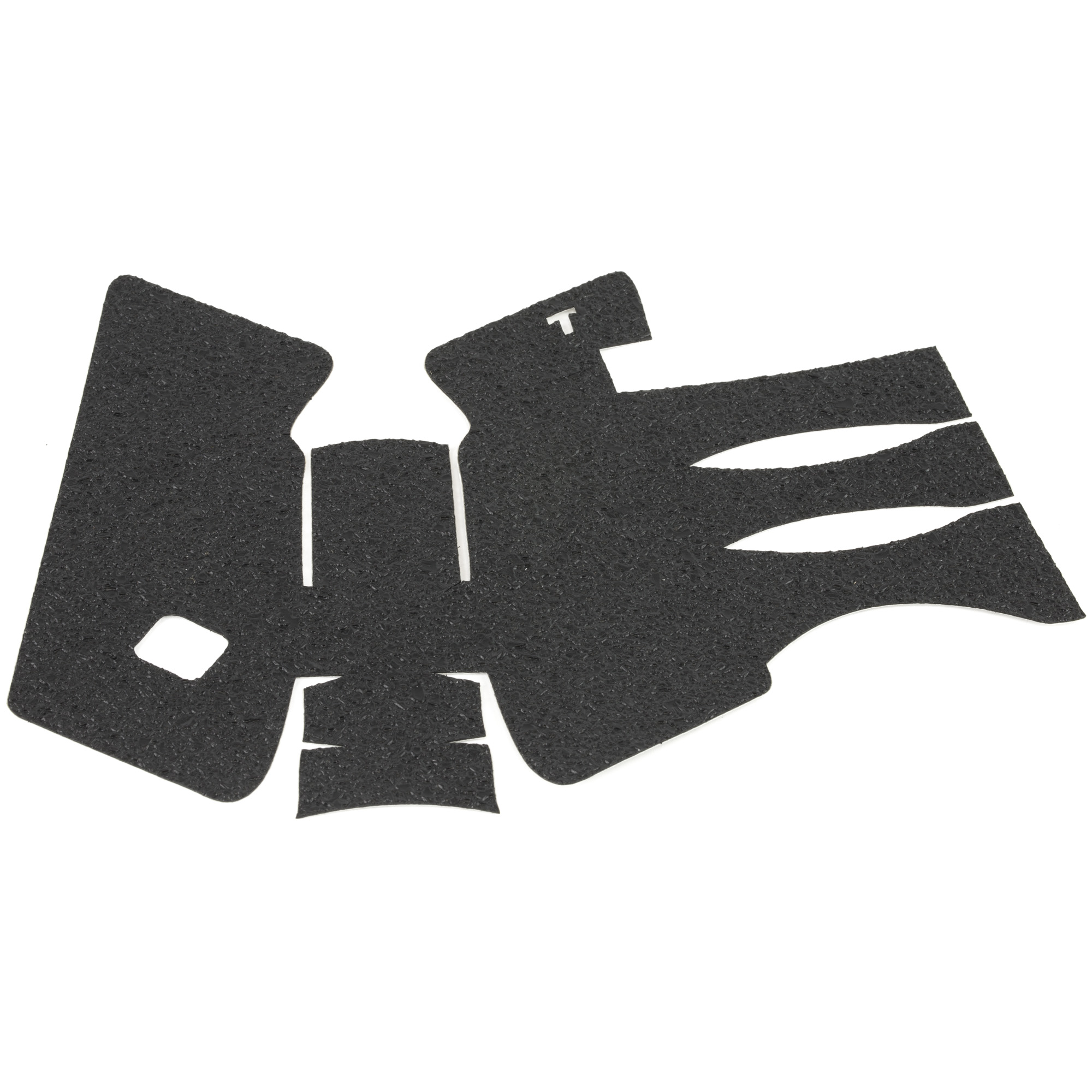 """TALON Grips for Glock 20"""" 21 Gen 2"""" 3. This rear wrap grip is available in both granulate and rubber textures. This grip provides full coverage on the side panels including above the thumb rest"""" ample coverage on the backstrap"""" and three finger wraps for the finger groves under the trigger guard. This grip has a logo cutout for the Glock emblem on the left side of the handle. This grip sticks extremely well even with the Rough Textured Frame (RTF)."""