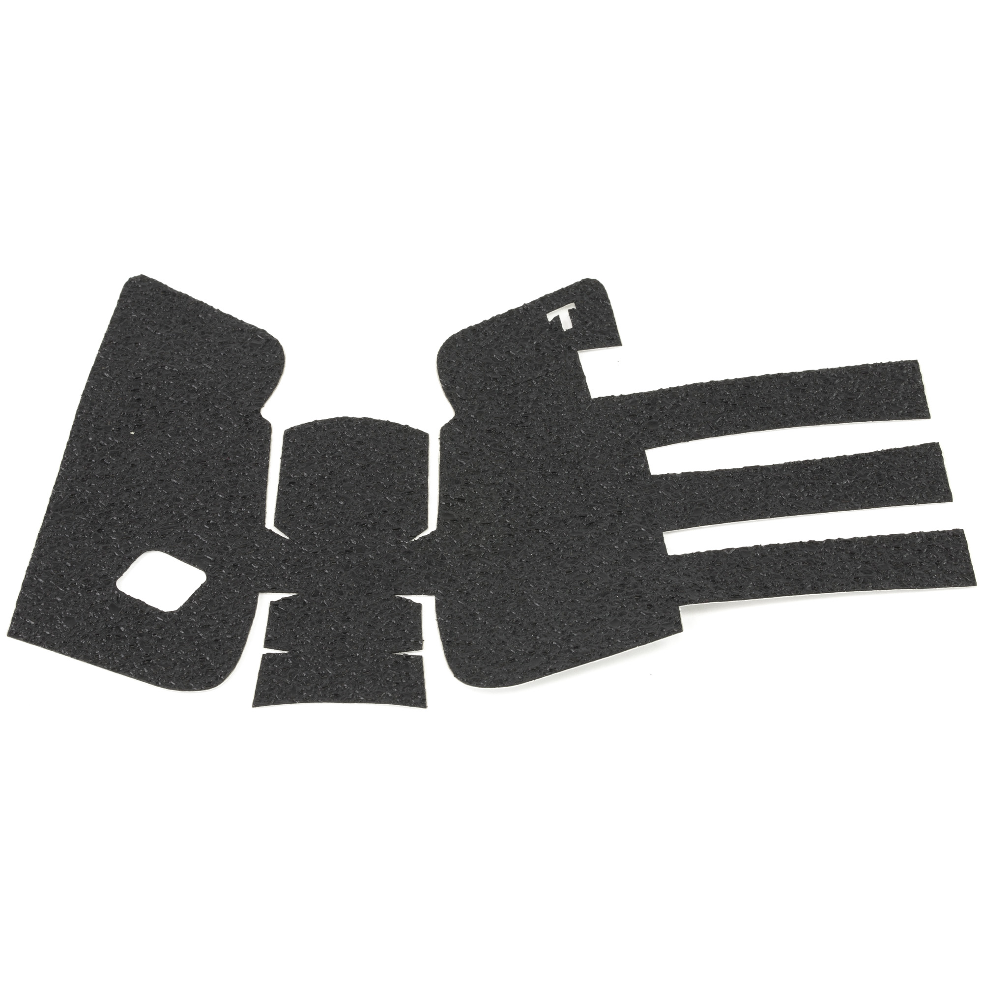"""TALON Grips for Glock Model 19"""" 23"""" 25"""" 32"""" and 38 models Gen 1"""" 2"""" 3. This rear wrap grip is in the rubber texture. This grip provides full coverage on the side panels including above the thumb rest"""" ample coverage on the backstrap"""" and three finger wraps for the finger groves under the trigger guard. This grip has a logo cutout for the Glock emblem on the left side of the handle. This grip sticks extremely well even with the Rough Textured Frame (RTF)."""
