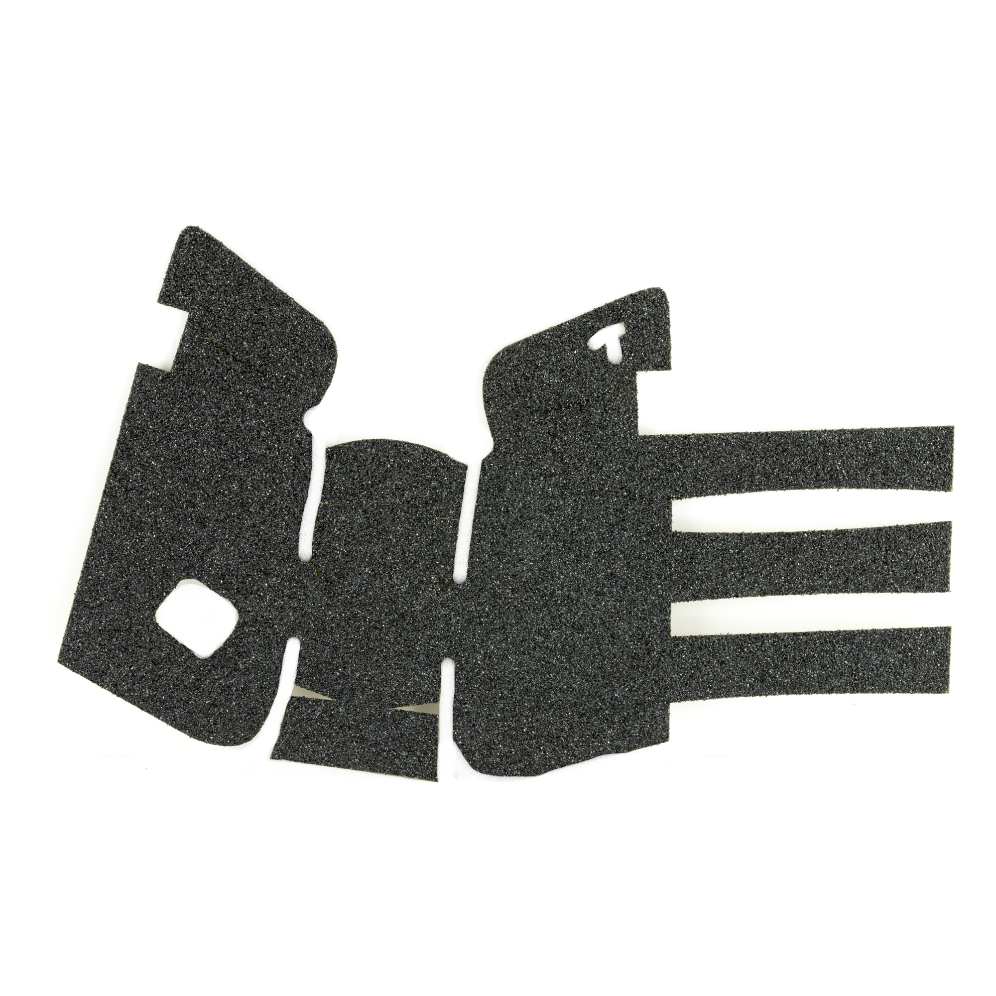 """TALON Grips for Gen 4 Glock 19"""" 23"""" 25"""" 32"""" and 38 models with No Backstrap. This rear wrap grip is in the granulate texture. This grip provides full coverage on the side panels including above the thumb rest"""" ample coverage on the backstrap"""" and three finger wraps for the finger groves under the trigger guard. This grip has a logo cutout for the Glock emblem on the left side of the handle. This grip sticks extremely well even with the Rough Textured Frame (RTF)."""