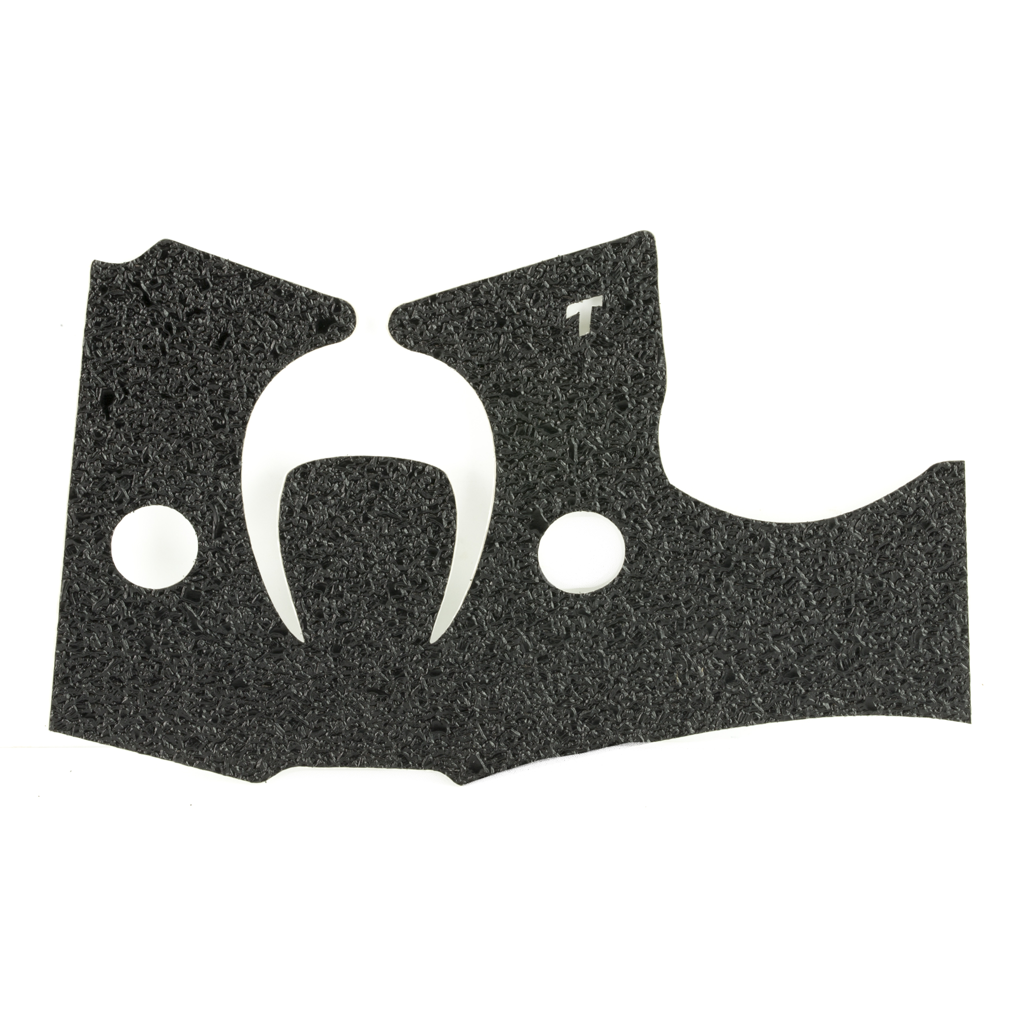 """TALON Grips for Kahr CM9"""" CM40"""" PM9 and PM40 models. This rear wrap grip is in the rubber texture and offers full side panel coverage including the thumb rest area"""" full coverage under the trigger guard"""" and high coverage on the backstrap. This grip has graphic cut outs on each side around the Kahr emblem. This grip helps with the aggressive stippling common on Kahr firearms."""