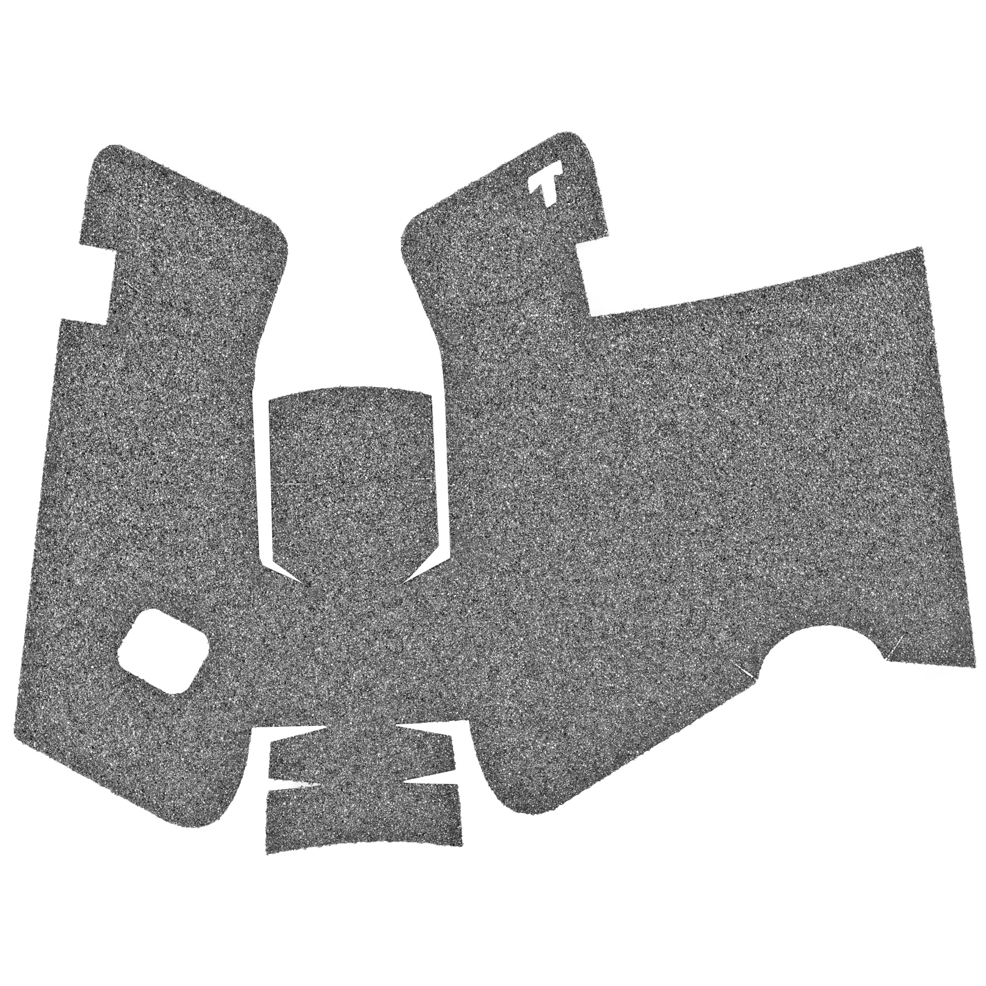 """TALON Grips for Glock Gen 5 Models 17"""" 22"""" 24"""" 31"""" 34"""" 35"""" and 37 with No Backstrap. This rear wrap grip is in the granulate texture. This grip provides full coverage on the side panels including above the thumb rest"""" ample coverage on the backstrap"""" and full coverage under the trigger guard. This grip has a logo cutout for the Glock emblem on the left side of the handle. This grip sticks extremely well even with the Rough Textured Frame (RTF)."""