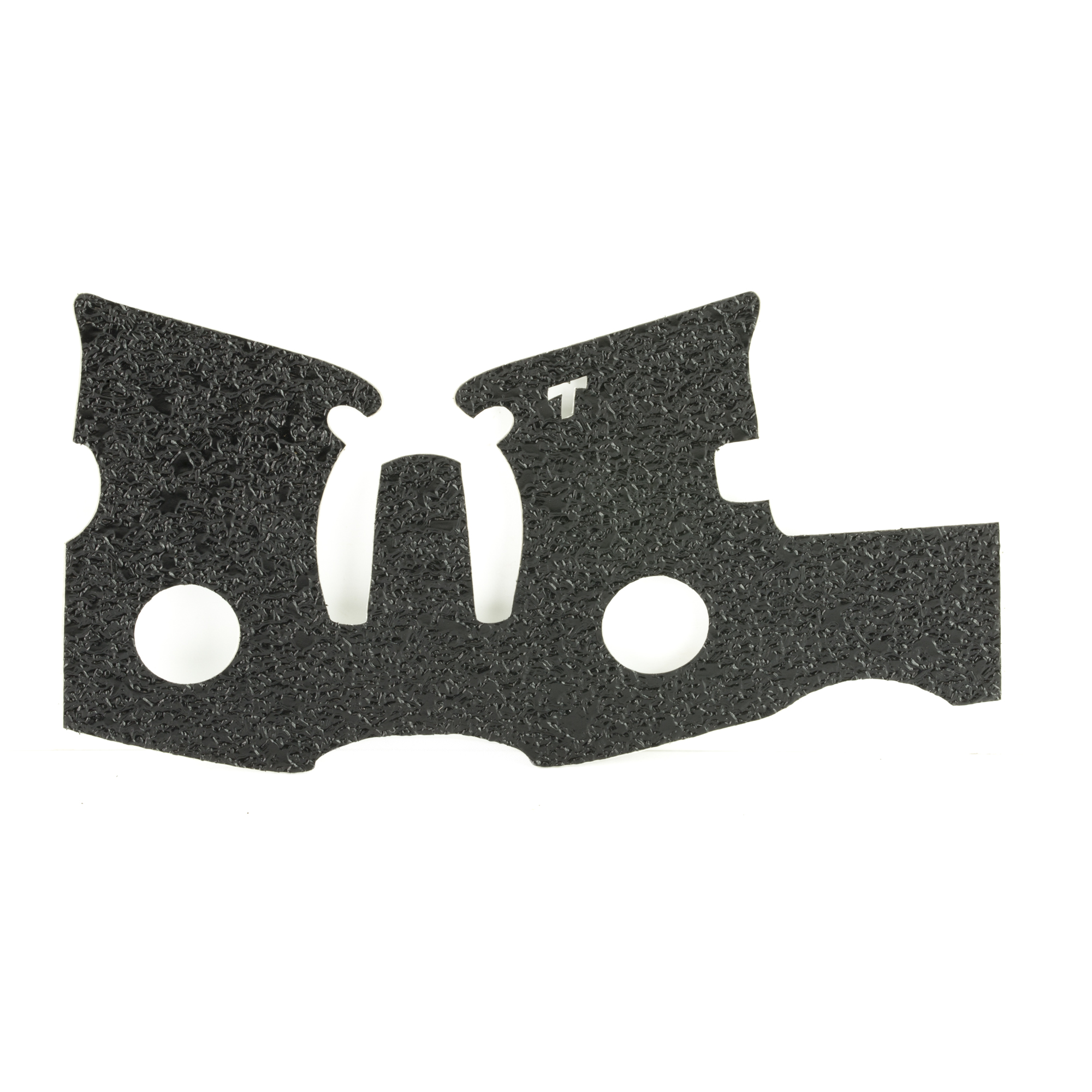 """TALON Grips for Ruger LCP model. This rear wrap grip is in the rubber texture and offers full side panel coverage including the thumb rest area"""" full coverage under the trigger guard"""" and high coverage on the backstrap. This grip has graphic cutouts for the Ruger emblem on each side of the firearm."""