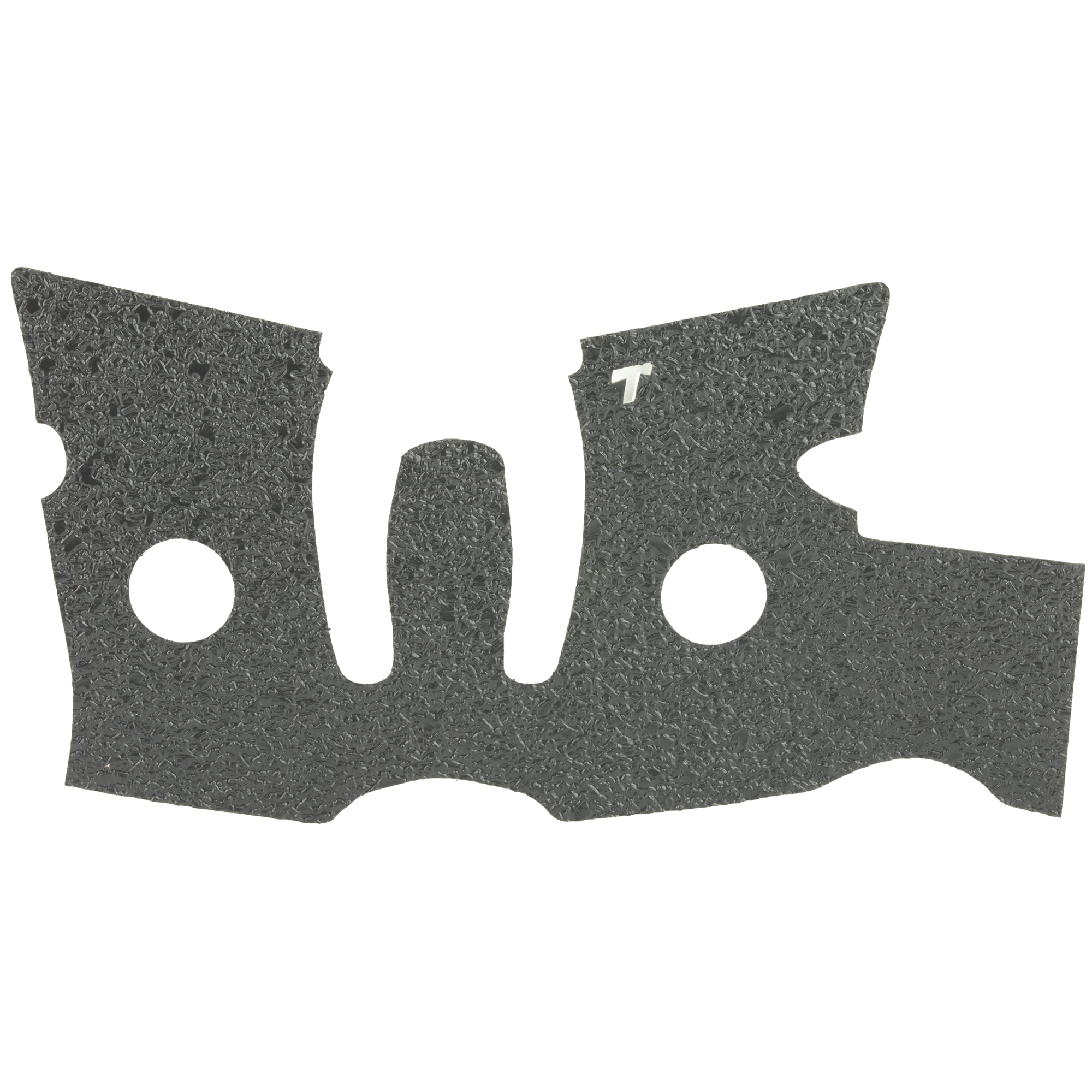 """TALON Grips for Ruger LC9S and EC9S modes. This rear wrap grip is in the rubber texture and offers full side panel coverage including the thumb rest area"""" full coverage under the trigger guard"""" and high coverage on the backstrap. This grip has graphic cutouts for the Ruger emblem on each side of the firearm."""