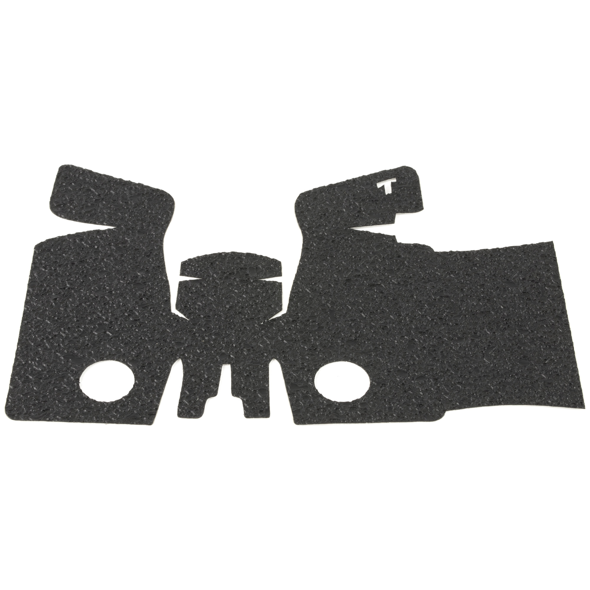 """TALON Grips for Smith & Wesson SD9 and SD40 models. This rear wrap grip is in the rubber texture and offers full side panel coverage including the thumb rest area"""" full coverage under the trigger guard"""" and high coverage on the backstrap. This grip has graphic cutouts for the S&W emblem on each side of the firearm."""