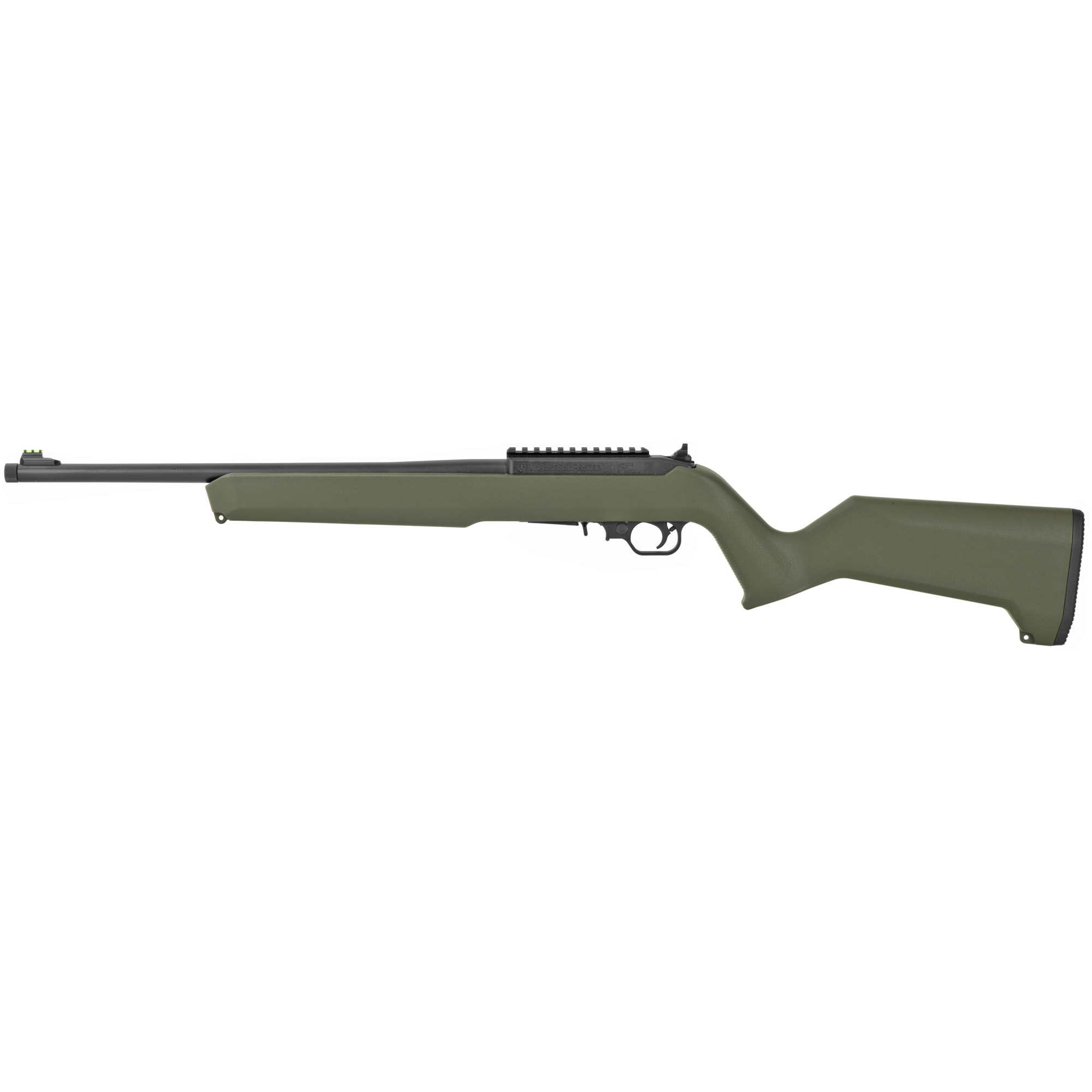 """The Thompson/Center T/CR22 rifle delivers exceptional out-of-the-box performance through a feature set that appeals to both recreational shooters and hunters. The T/CR22 includes a green fiber optic front sight and adjustable rear peep sight for quick target acquisition"""" while the built-in picatinny-style rail allows for the mounting of an optic for precision shooting at longer ranges."""
