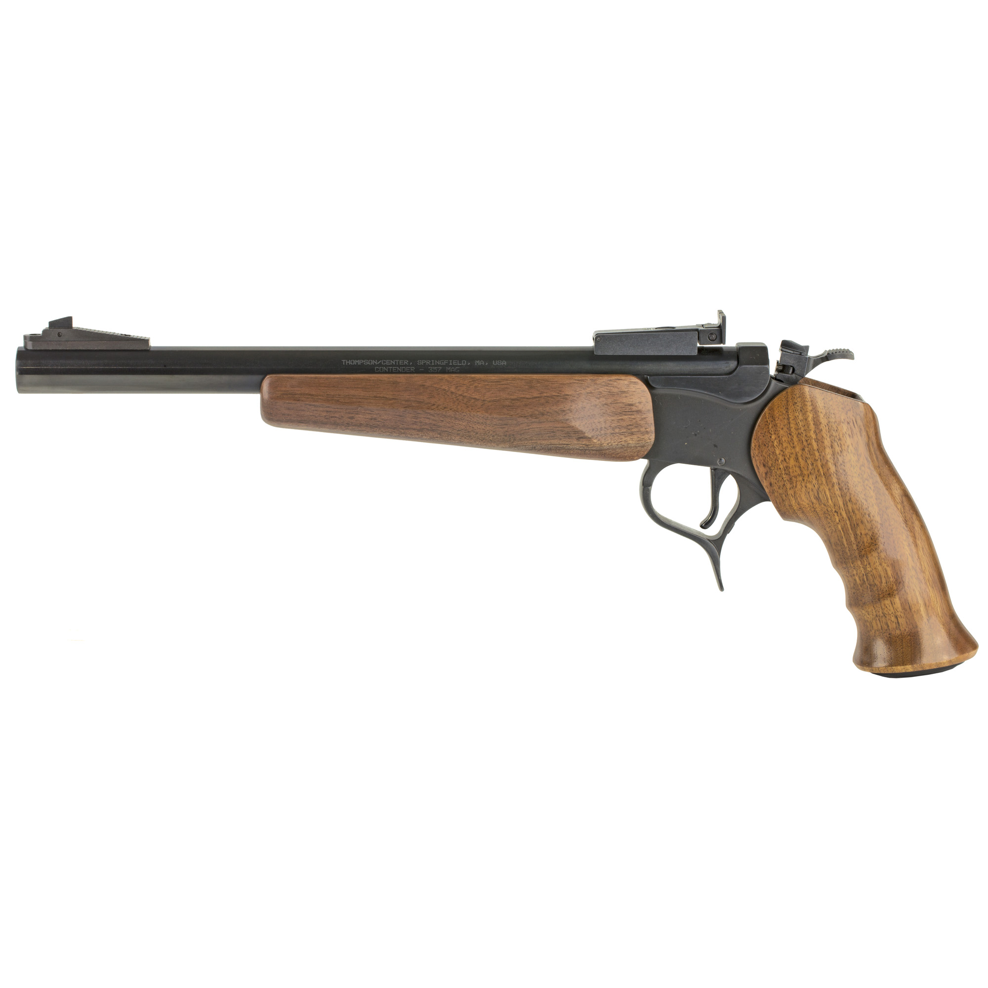 """Since the first CONTENDER(R) pistol was made in 1967"""" it has been the choice of serious handgun hunters around the world. From plinking and small game hunting with rim fire cartridges"""" to varmint and big game hunting with center fire rifle cartridges"""" the G2 Contender(R) continues to be the handgun of choice for those that pride themselves in wanting only the best."""