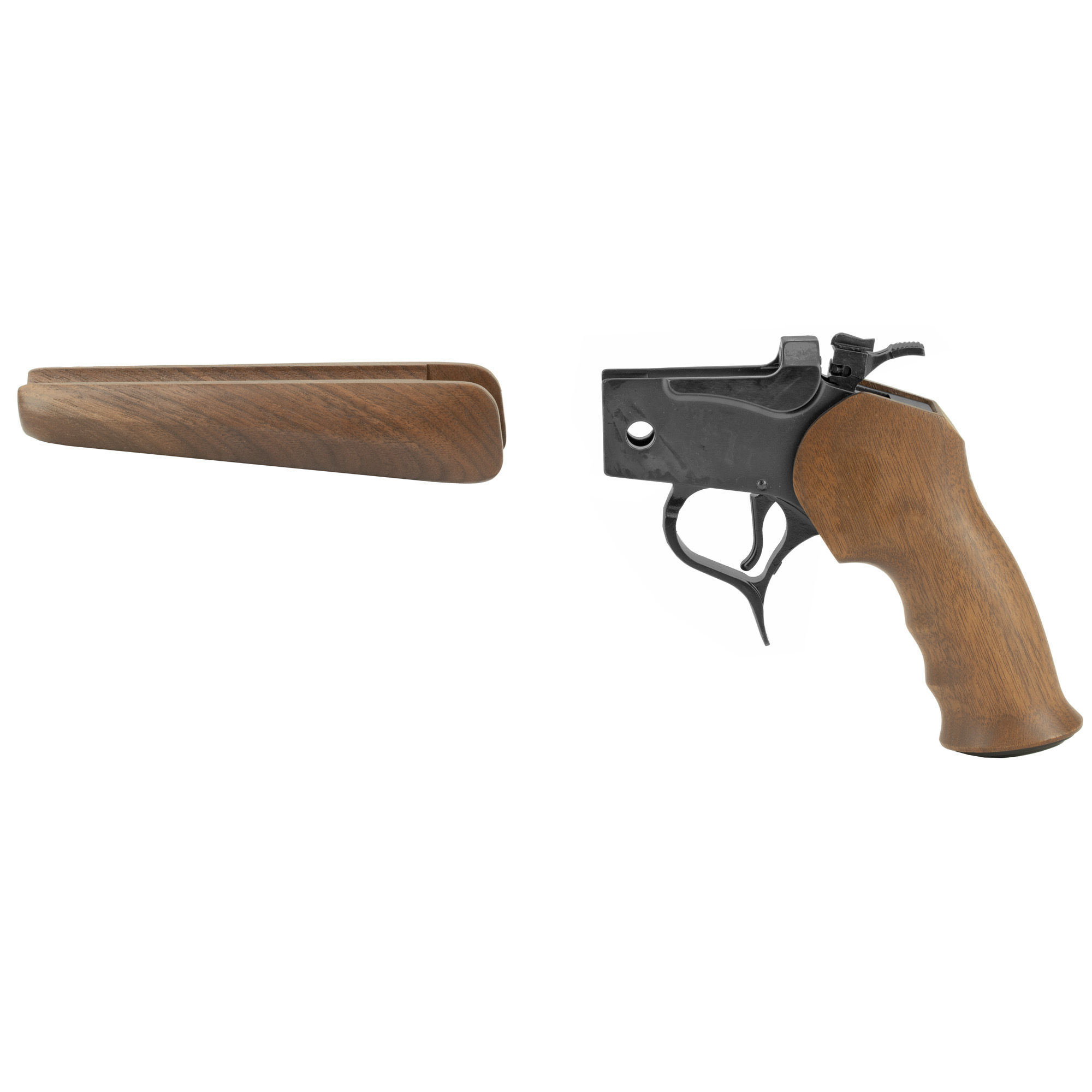 """Since the first CONTENDER(R) pistol was made in 1967"""" it has been the choice of serious handgun hunters around the world. Pistol frame assemblies include frame"""" grip"""" and pistol forend with hinge pin and forend screws."""