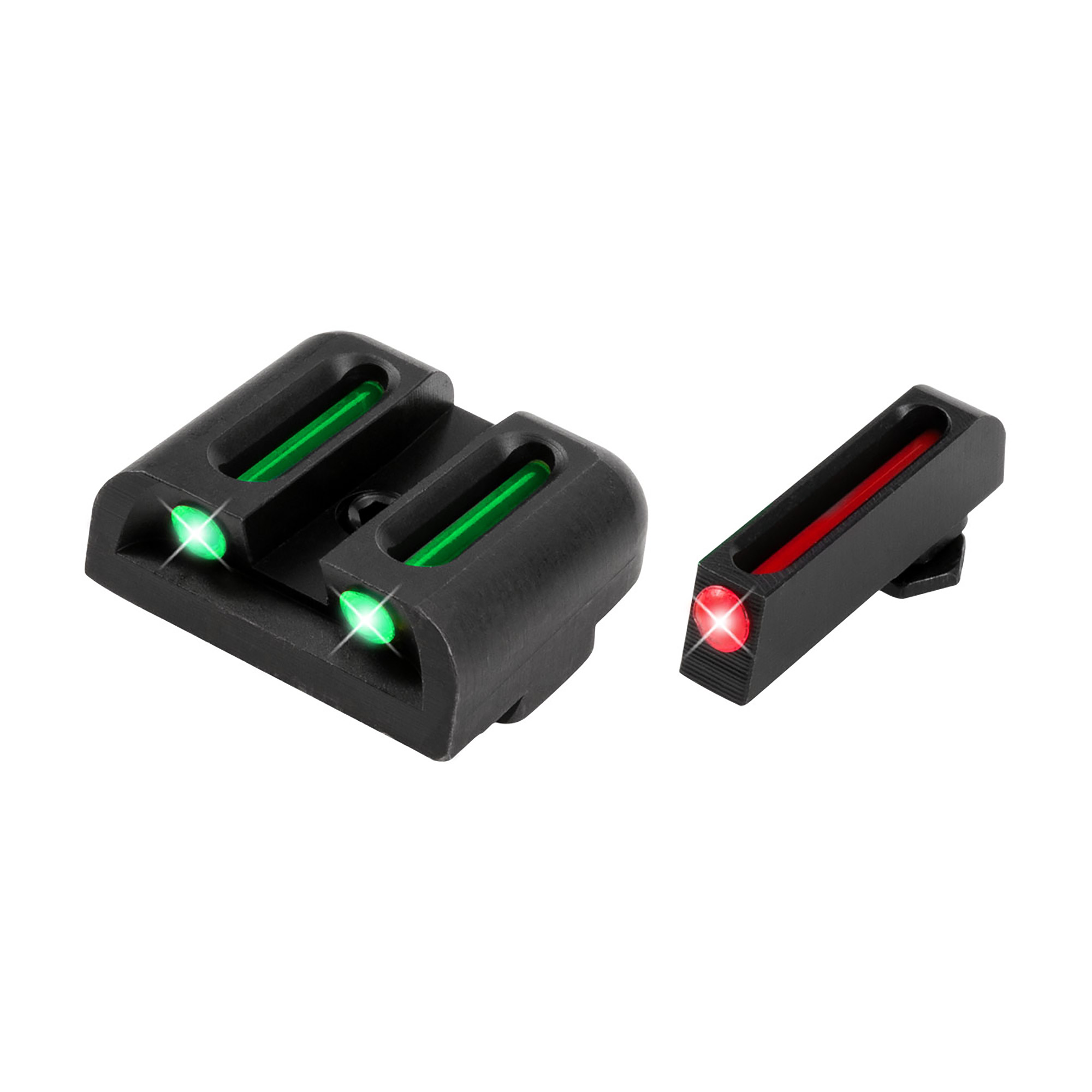 """TRUGLO fiber optics absorb and channel the existing ambient light to produce bright and precise aiming points. TRUGLO sights are the brightest aiming points in the industry. They give the shooter greater sight contrast for quicker sight alignment"""" better target acquisition and a clearer sight picture under all shooting conditions. TRUGLO fiber optics are ideal for dusk and dawn or other low light hunting conditions."""