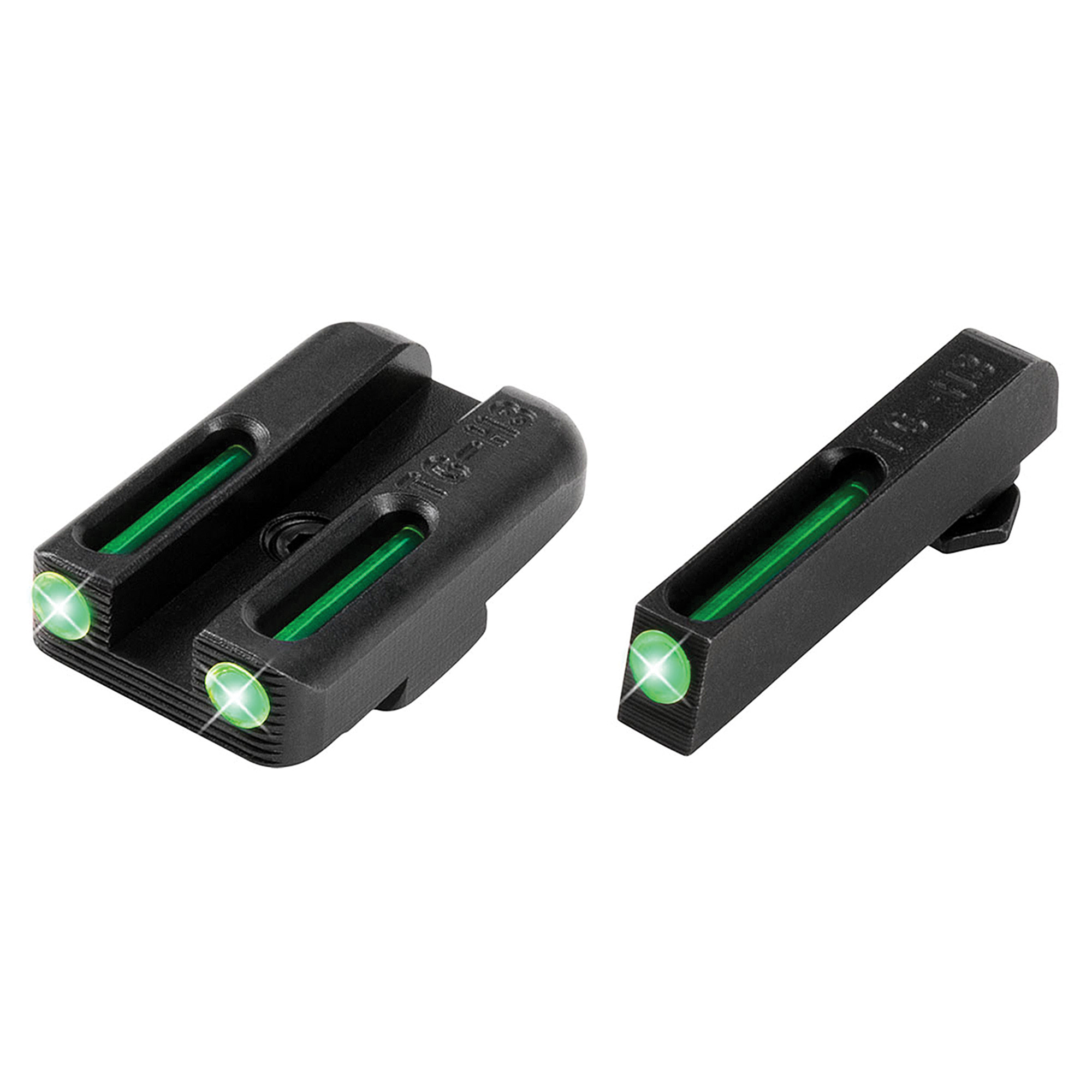 """Truglo Glock 42/43 Set (Green/Green)- When you need to make a fast and accurate shot"""" brightness counts. They brought fiber-optics to the shooting sports industry years ago for this very reason. They have now paired them with their tritium night sights to create a consistently bright sight picture-day or night! Their patented combination of Tritium and Fiber-optic technologies unites the best of both worlds. Whether you are in glaring daylight or complete darkness"""" you can count on TFO(R) to provide a bright and reliable sight picture."""