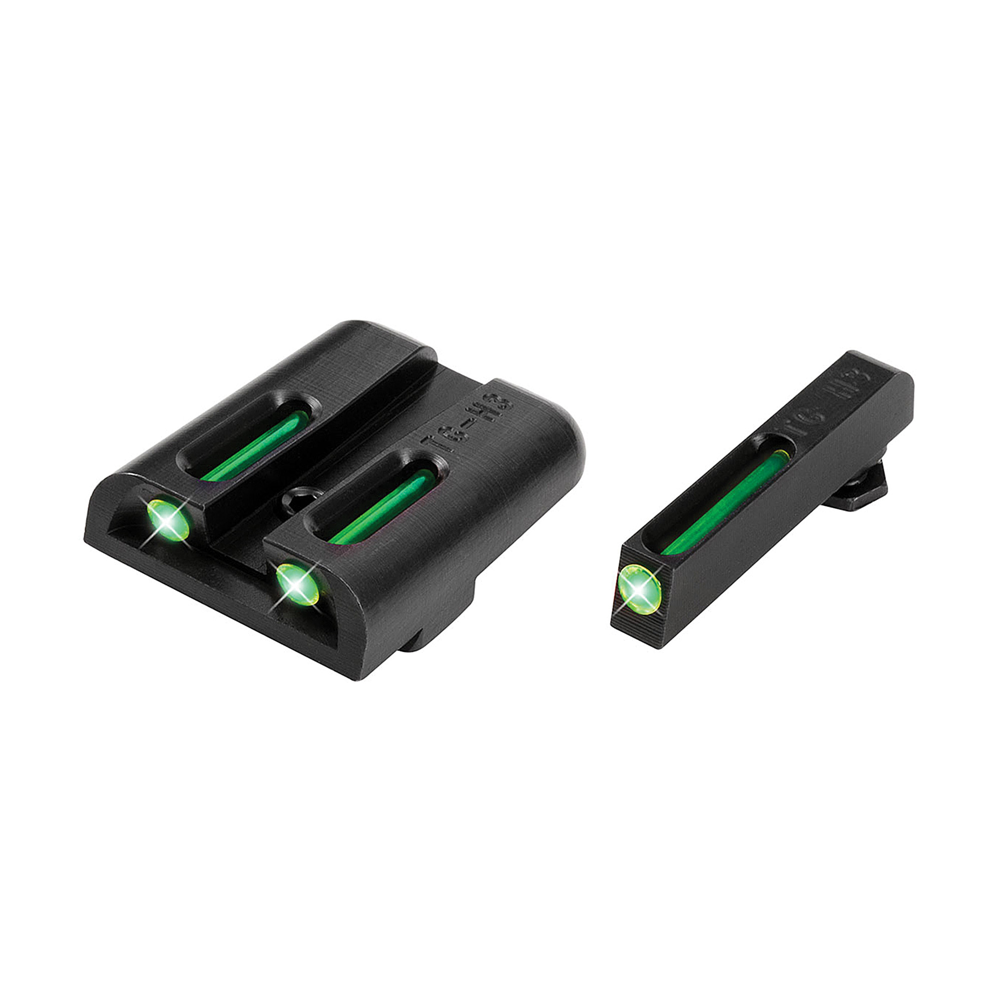 """Truglo Glock Low Set (Green/Green)- When you need to make a fast and accurate shot"""" brightness counts. They brought fiber-optics to the shooting sports industry years ago for this very reason. They have now paired them with their tritium night sights to create a consistently bright sight picture-day or night! Their patented combination of Tritium and Fiber-optic technologies unites the best of both worlds. Whether you are in glaring daylight or complete darkness"""" you can count on TFO(R) to provide a bright and reliable sight picture."""