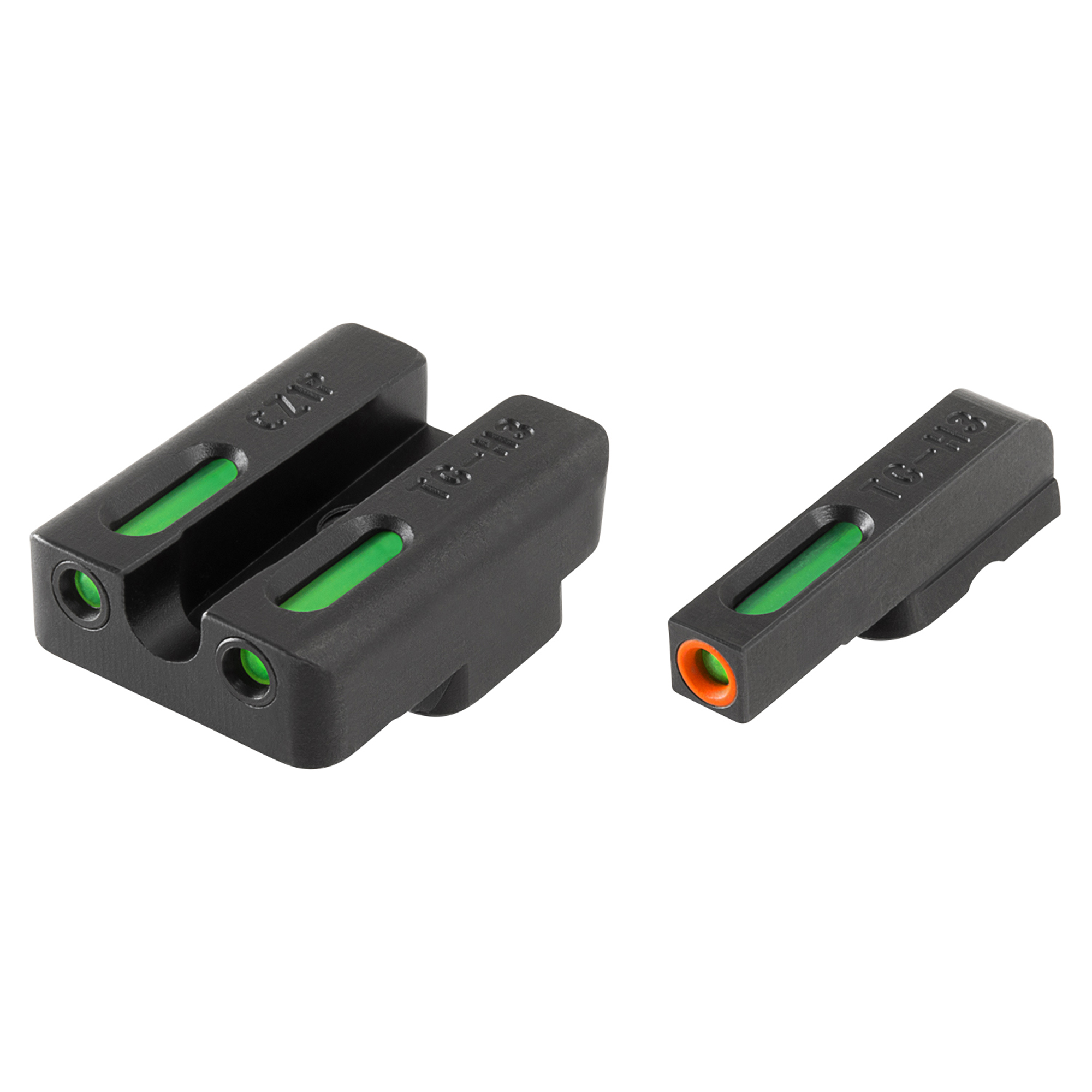 TruGlo Brite-Site TFX Pro For CZ 75 Series Green Rear Green With Orange Focus Lock Front Sight-The TFX CZ 75 Set Pro ORN Handgun Sight provides a longer sight radius for tighter groupings. The aiming elements are encased inside a virtually indestructible chemical and shock resistant capsule. All of the CNC-machined steel is protected with a rust proof Fortress Finish. There is even a highly visible white ring surrounding the front fiber to make it even more visible.
