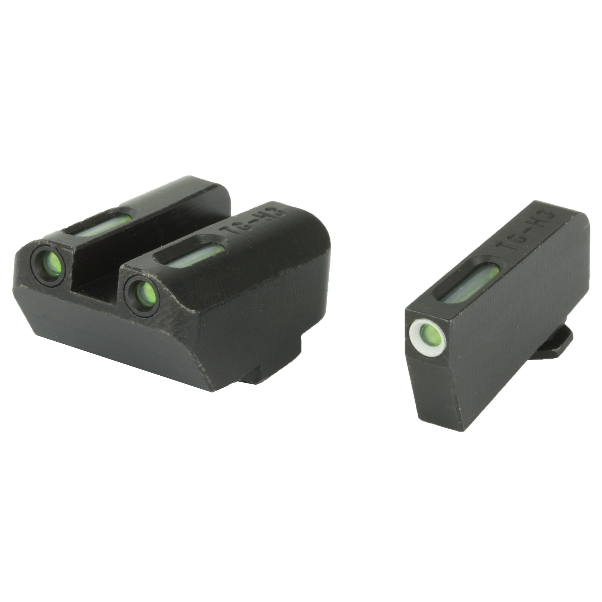 The TFX series of day/night sights features a 3-dot configuration with front and rear tritium illumination. The front sight features a white front focus lock ring which aids in front sight acquisition during normal daylight hours. The rear sight features a square notch style profile. The housing is made of high quality steel with a matte black finish. If you are concerned about your ability to make quality hits on target during a potential night time encounter then pick up yourself a set of the new TFX series sights from TruGlo.