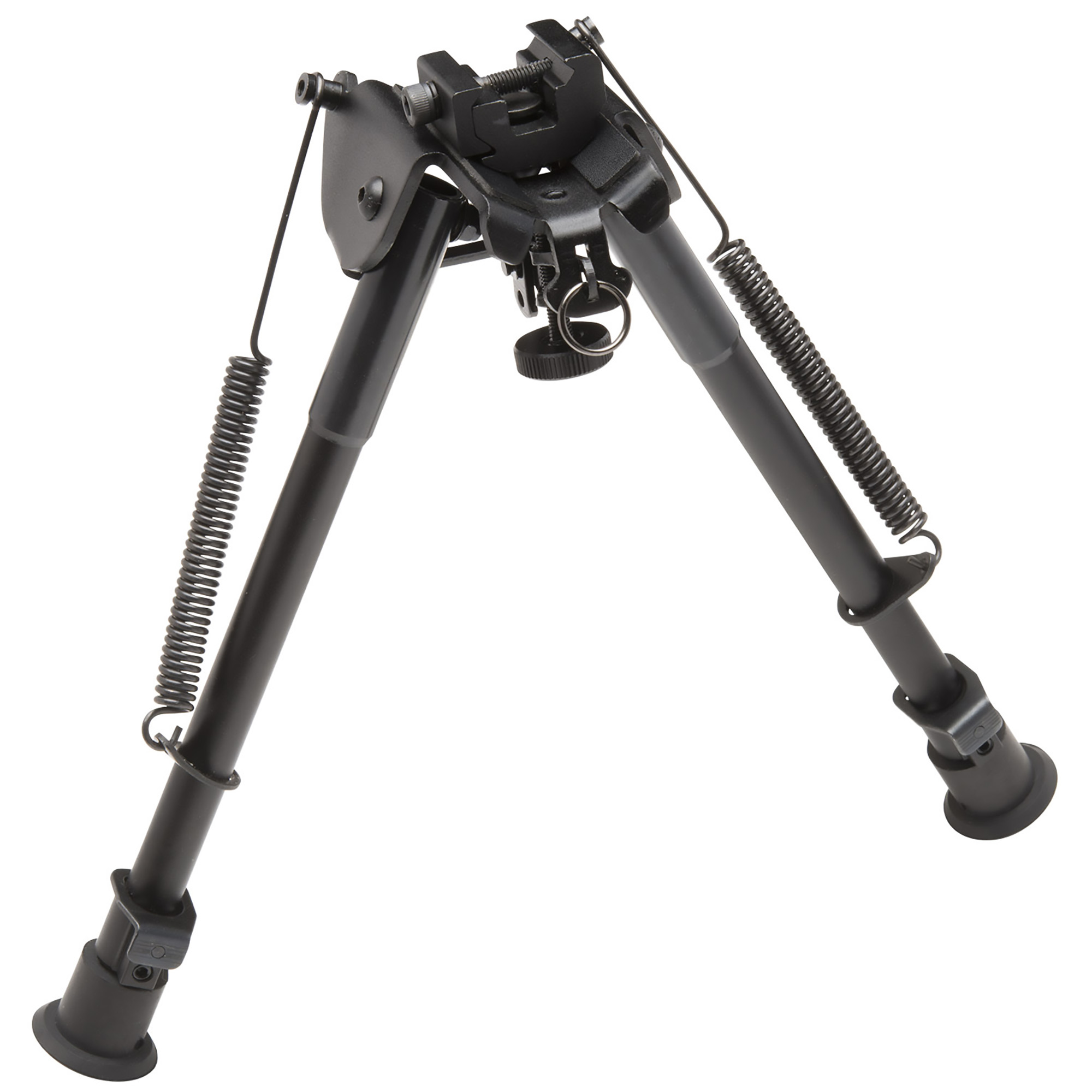 """This TAC POD adjustable bipod mounts to a sling swivel stud or a picatinny rail. It is lightweight and compact with quick deployment. It has a spring-assisted design and it even includes a sling stud adapter that can be used without bipod for additional sling mounting options. Adjusts 9""""-13""""."""