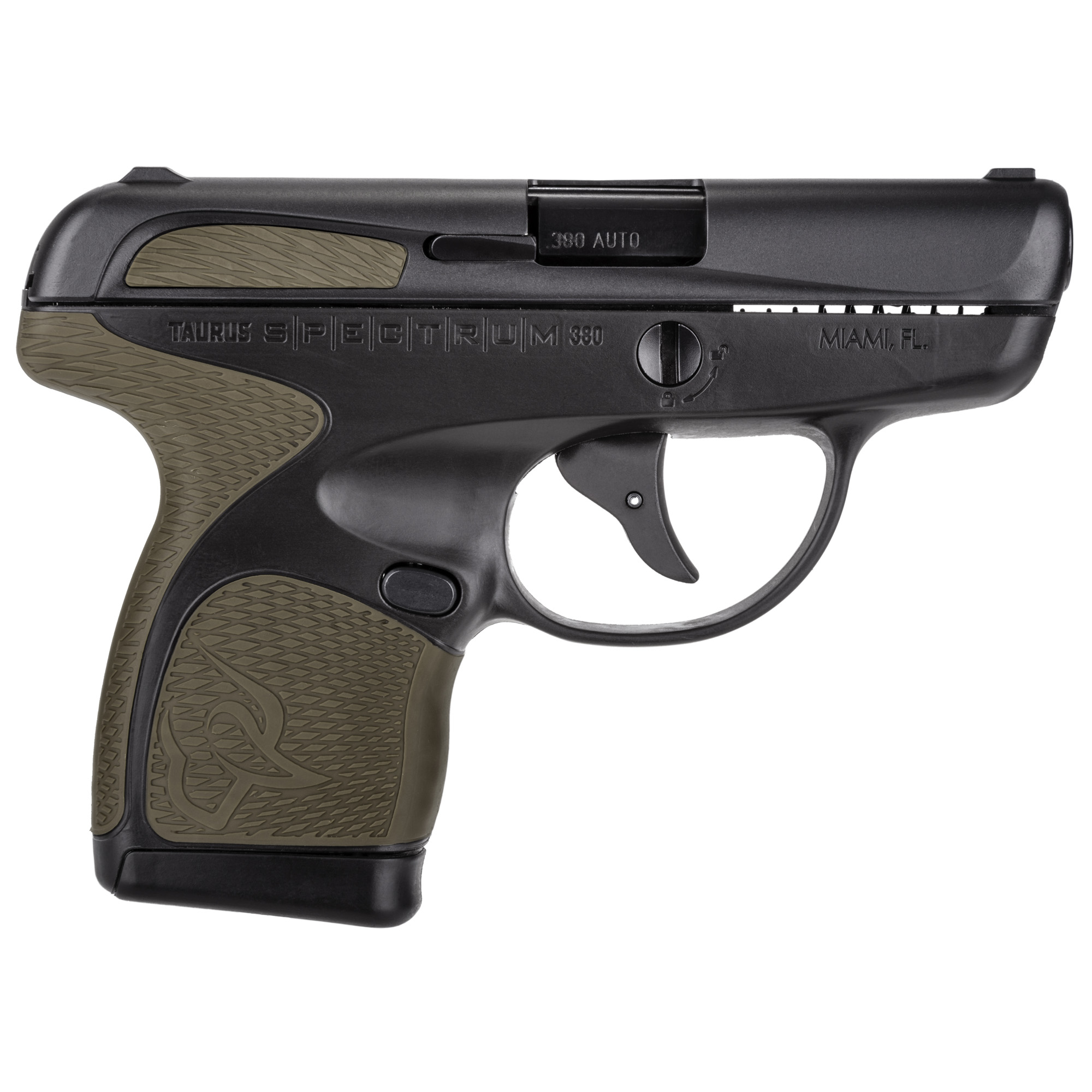 """Introducing the Taurus SPECTRUM(TM)-a round breaking new micro-pistol that completely reimagines the concealed carry experience. Delivering better comfort"""" better responsiveness and better control."""