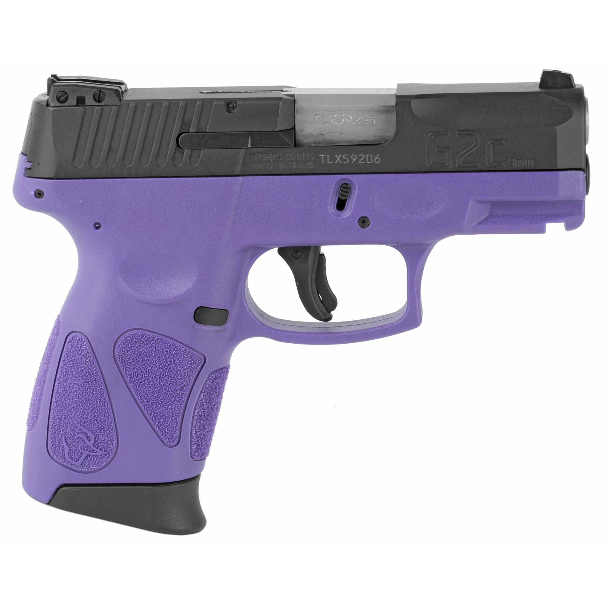 """Taurus G2C2 DAO 3.2"""" 9mm 12Rd - Black/Dark Purple-img-1"""