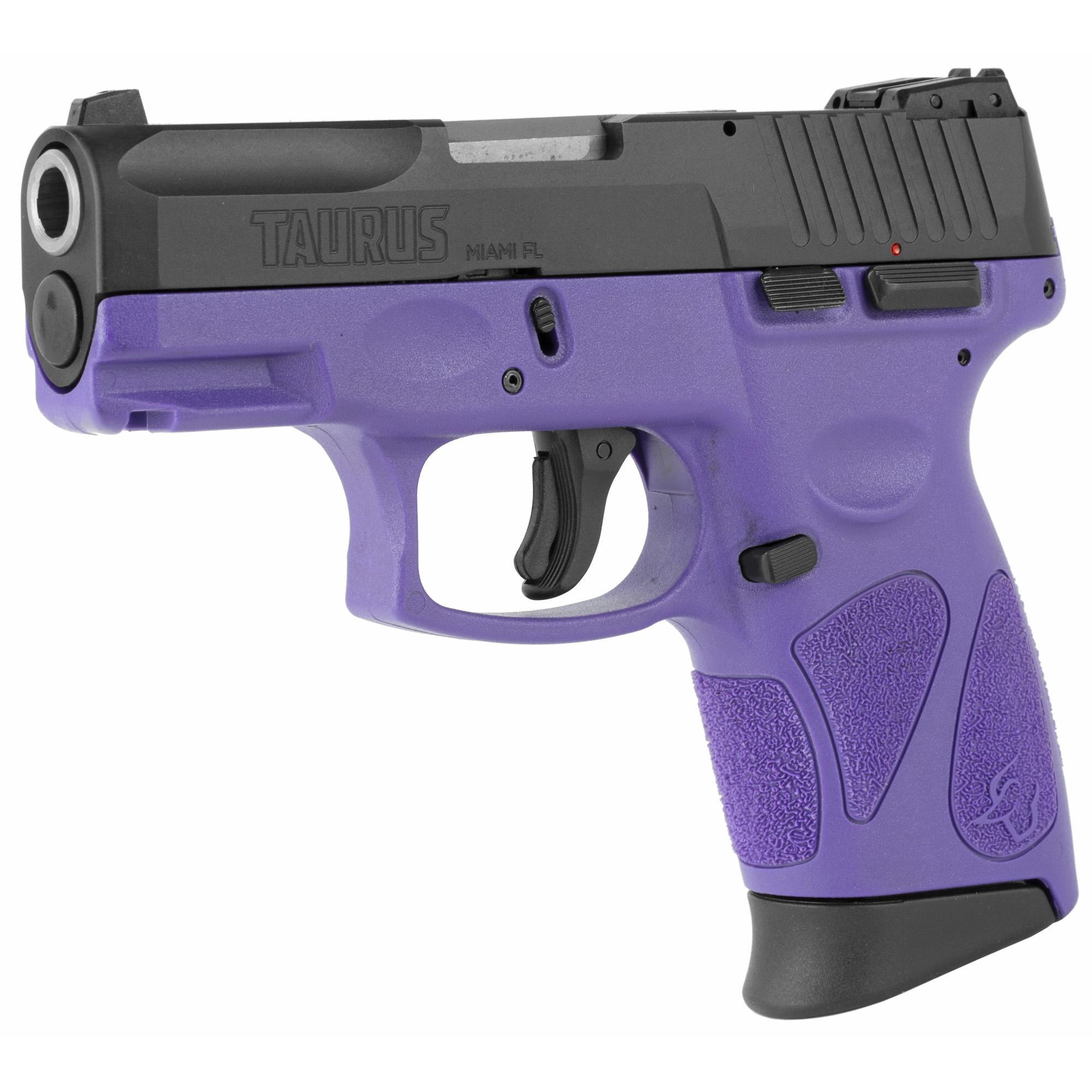 """Taurus G2C2 DAO 3.2"""" 9mm 12Rd - Black/Dark Purple-img-2"""
