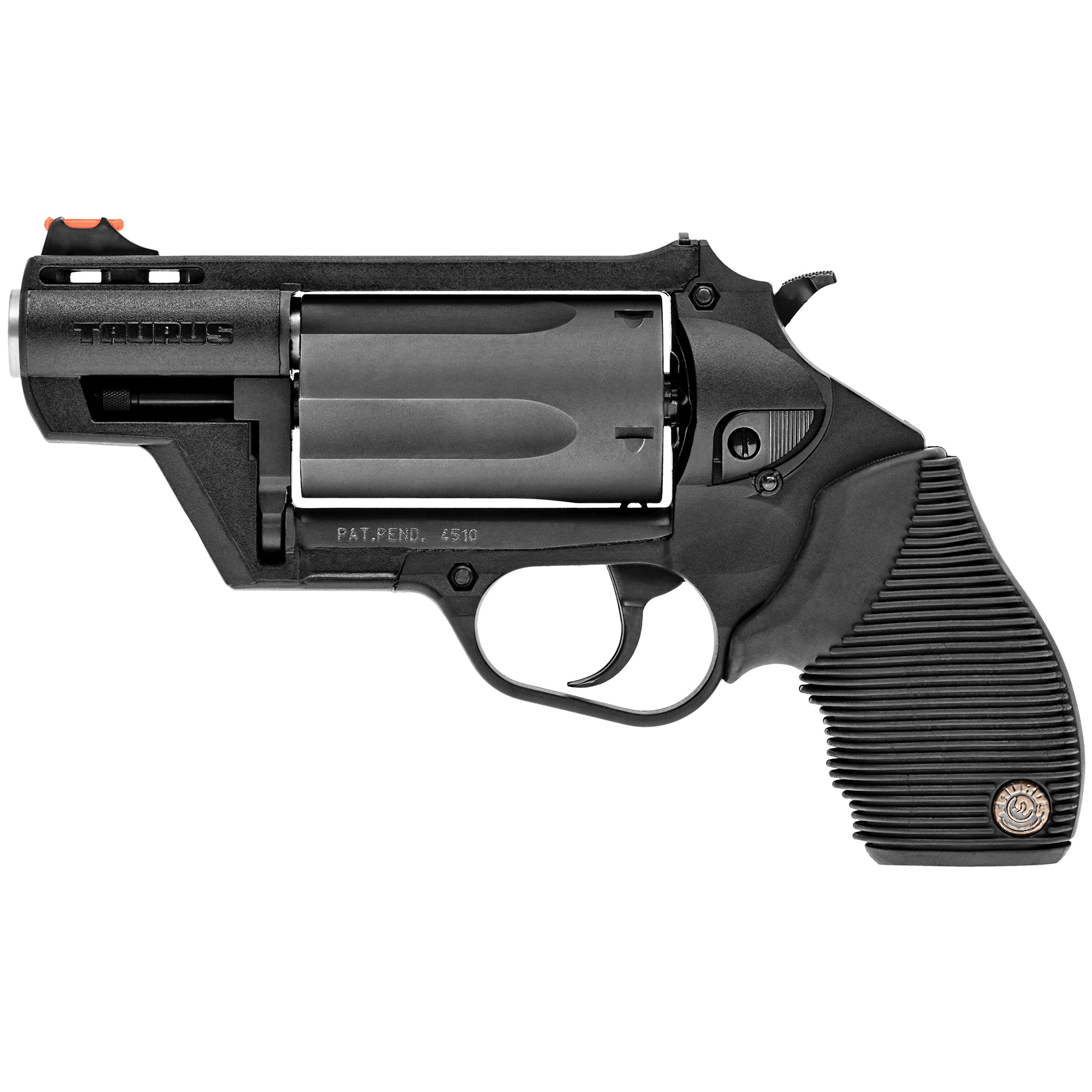 """Check out the revolutionary new Public Defender Polymer. This scaled-down model of everyone's favorite combo gun"""" the Taurus Judge"""" still gives you the ability to fire your choice of ammunition-now in a size that fits in most pockets."""