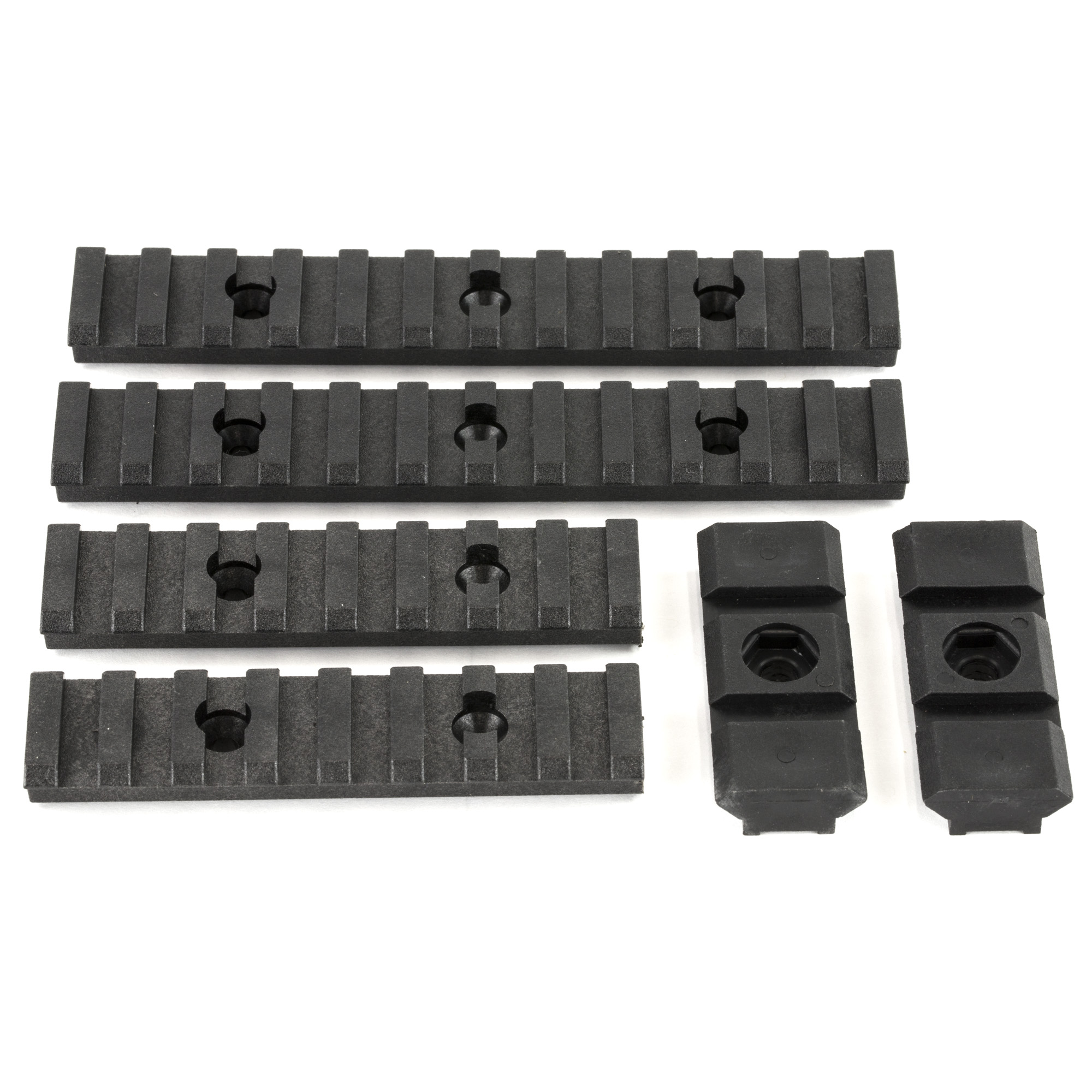 The Ultimate Rail Kit will provide you with any and all the lightweight polymer picatinny rails your firearm could possibly need. All mounting tools and hardware included.