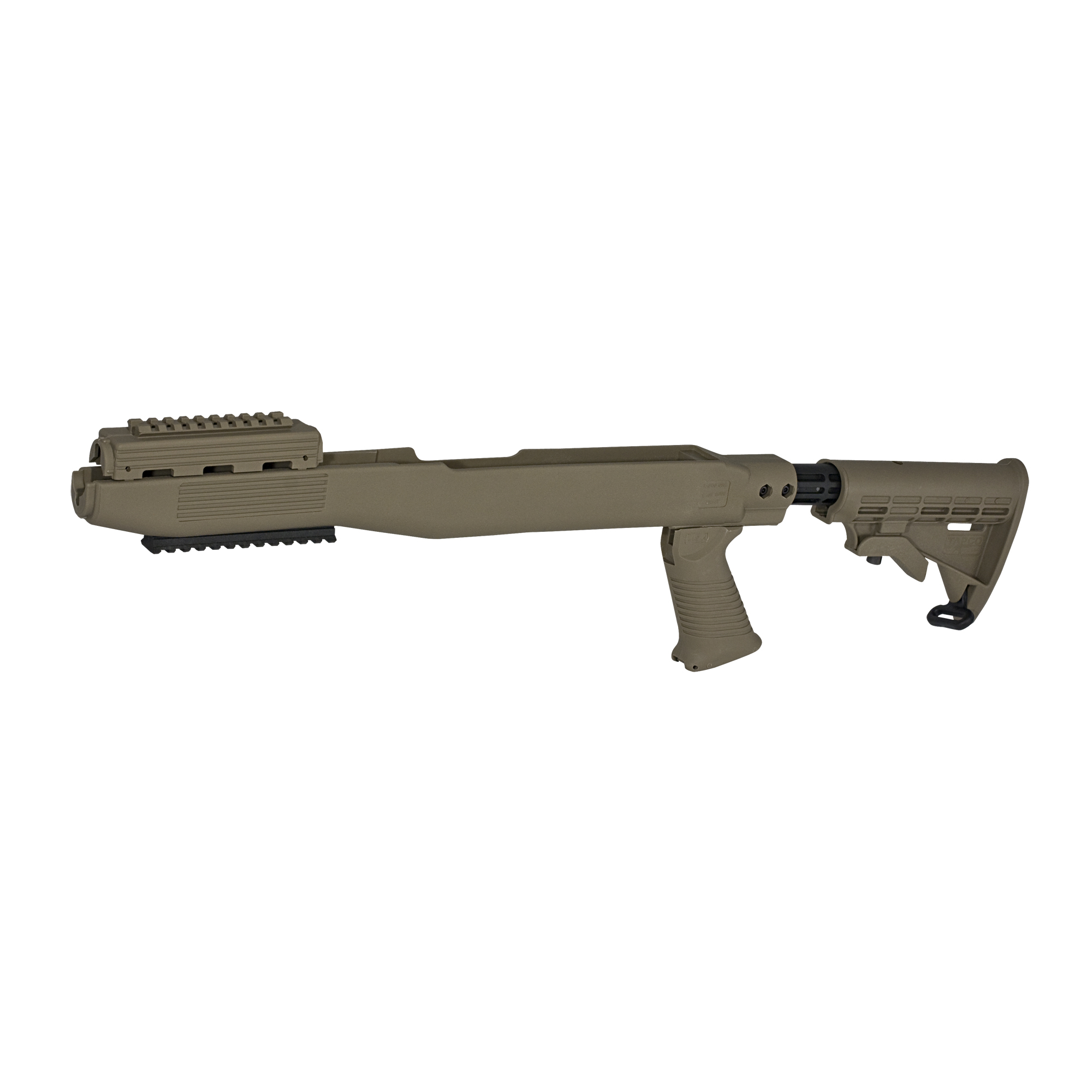 "The INTRAFUSE(R) SKS Stock System. This system gives you a 6 position adjustable T6(TM) stock"" so it will accommodate any sized shooter"" a SAW Style Pistol Grip for greater comfort and control"" and an upper handguard rail for adding accessories. This version also comes with a lower Picatinny rail to add extra accessories. Their stock system works on most SKS models and is made of the highest strength composite. So"" if you're ready to leave your original wooden stock in a museum somewhere and transform your SKS into a 21st century tactical firearm"" purchase the INTRAFUSE(R) SKS Stock System today."